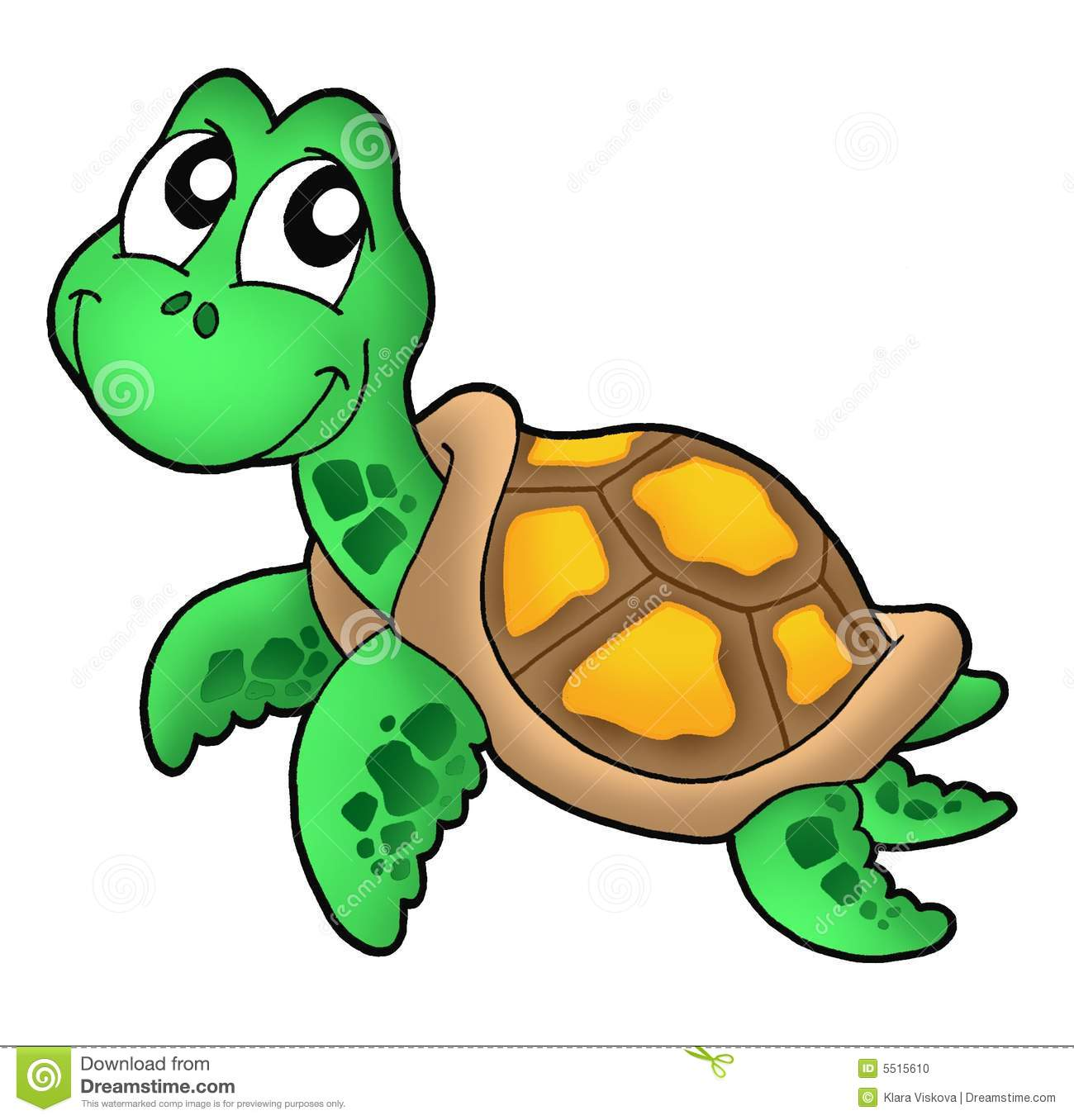 Little sea turtle stock illustration. Illustration of ...