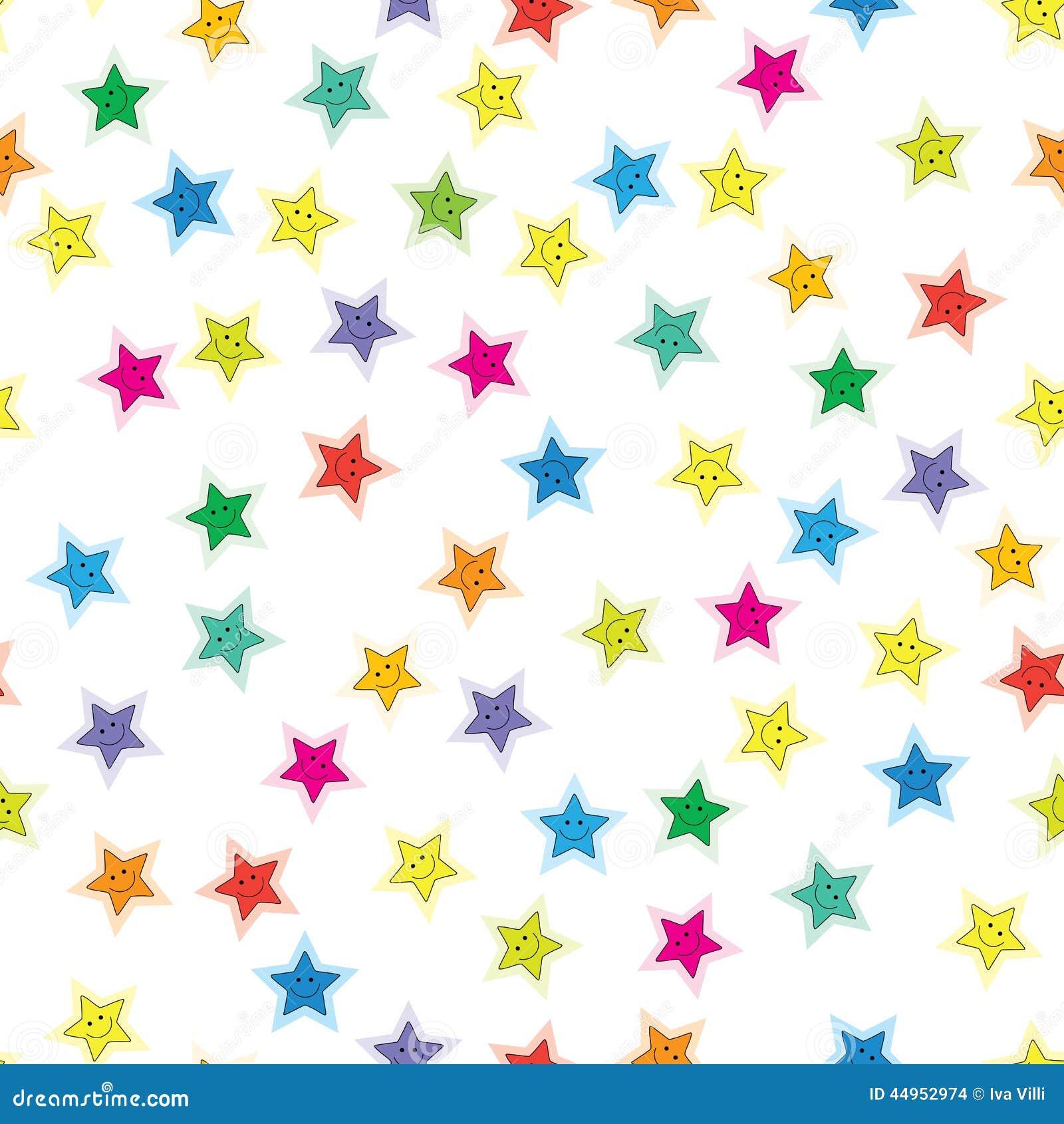 Little Stars Pattern Stock Vector. Illustration Of Shining