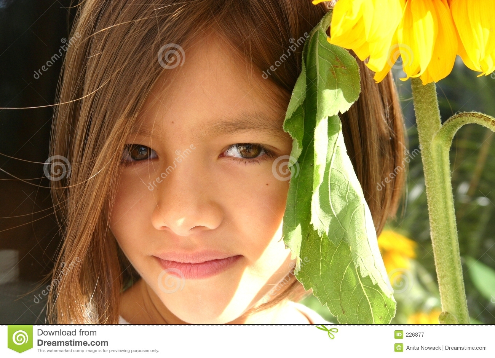 Little Sunflower Girl