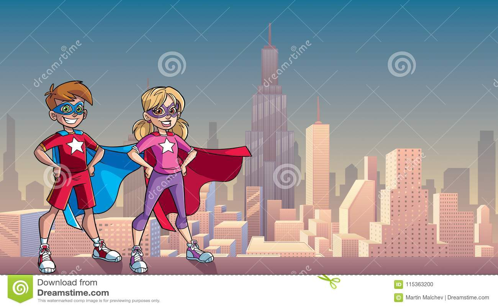 Little Super Kids City Background