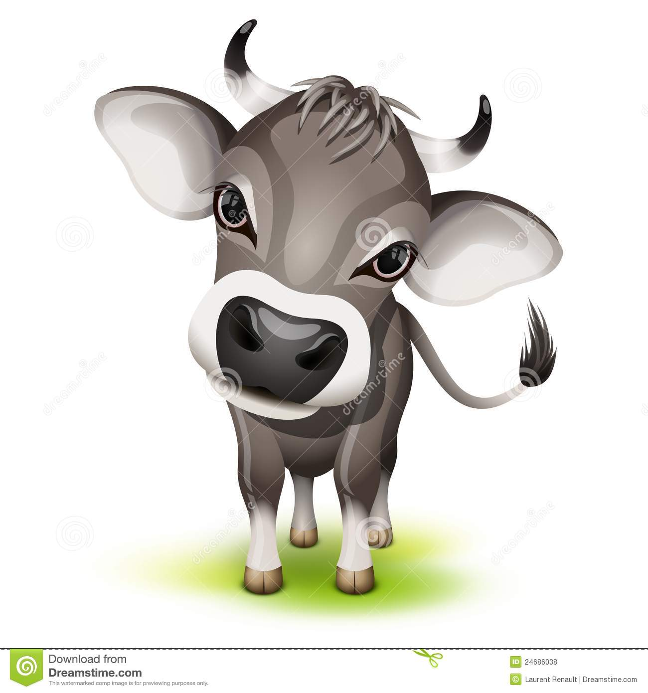 little swiss cow royalty free stock photos image 24686038