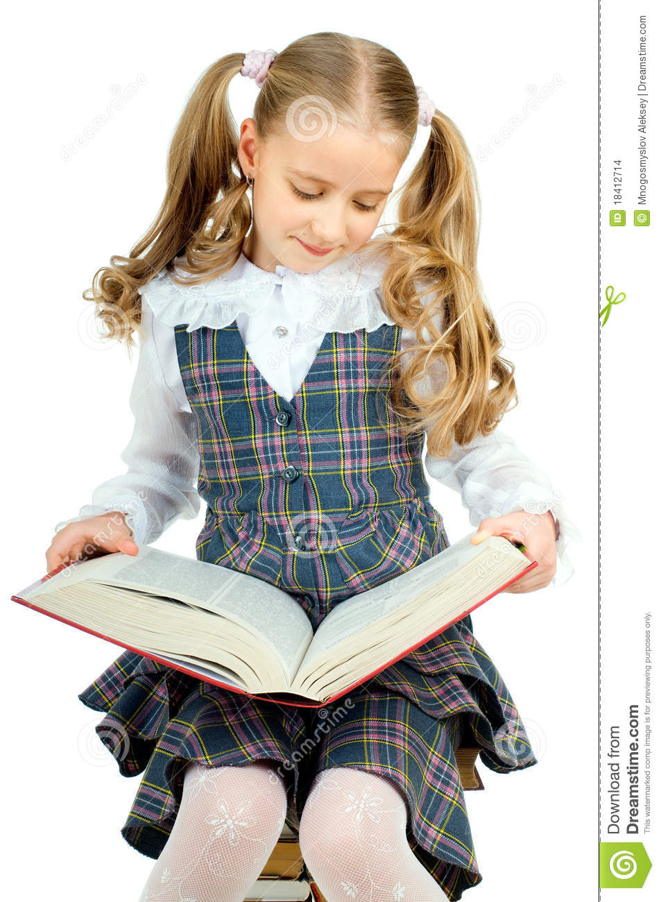 Little Teen Stock Photo. Image Of Cute, Read, Alone