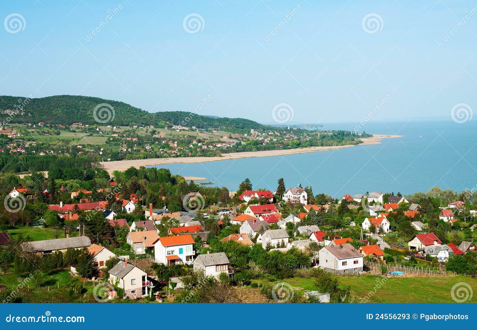 Little village at Lake Balaton