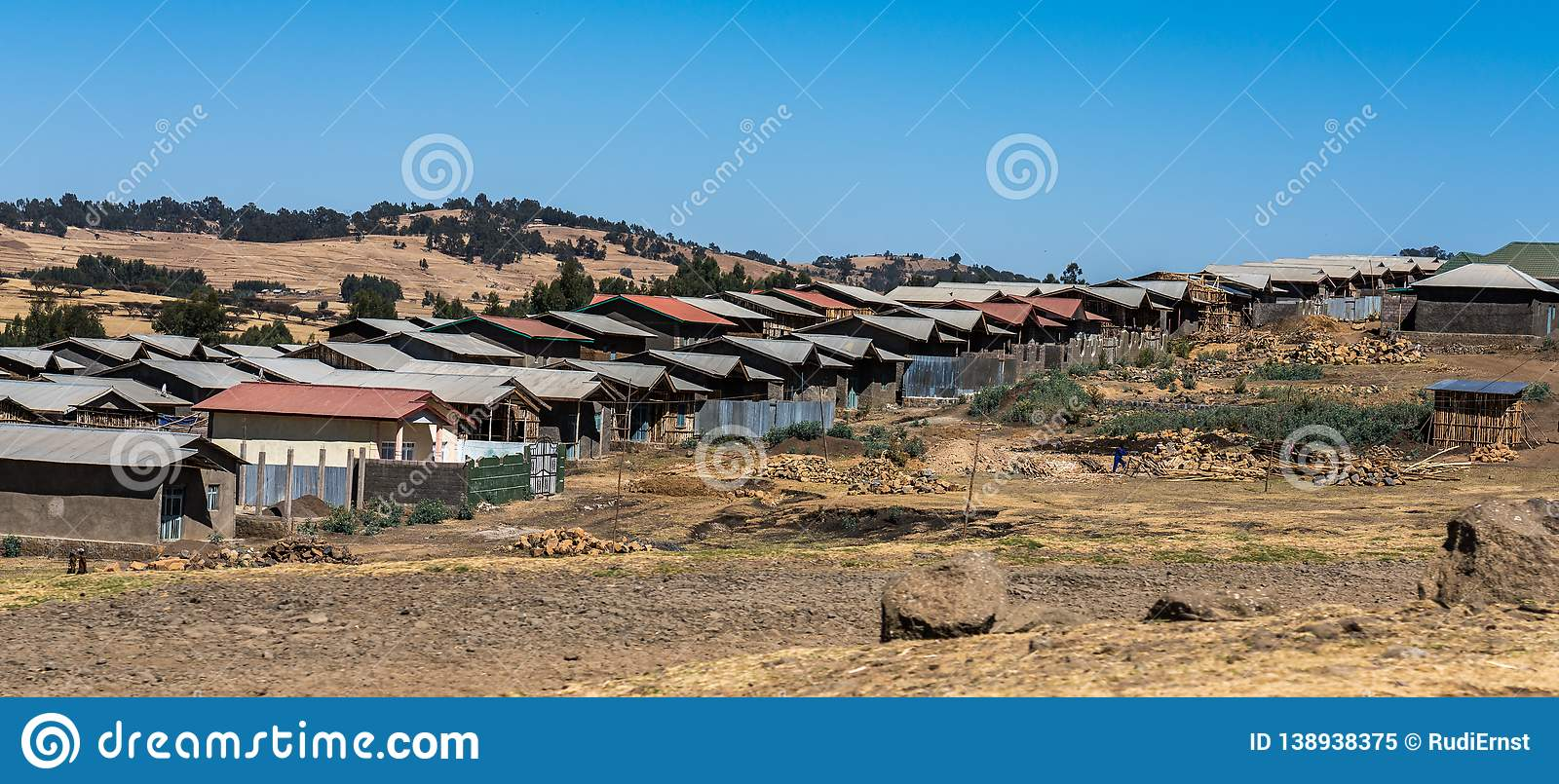 A little village in the Simien Mountains in Northern Ethiopia