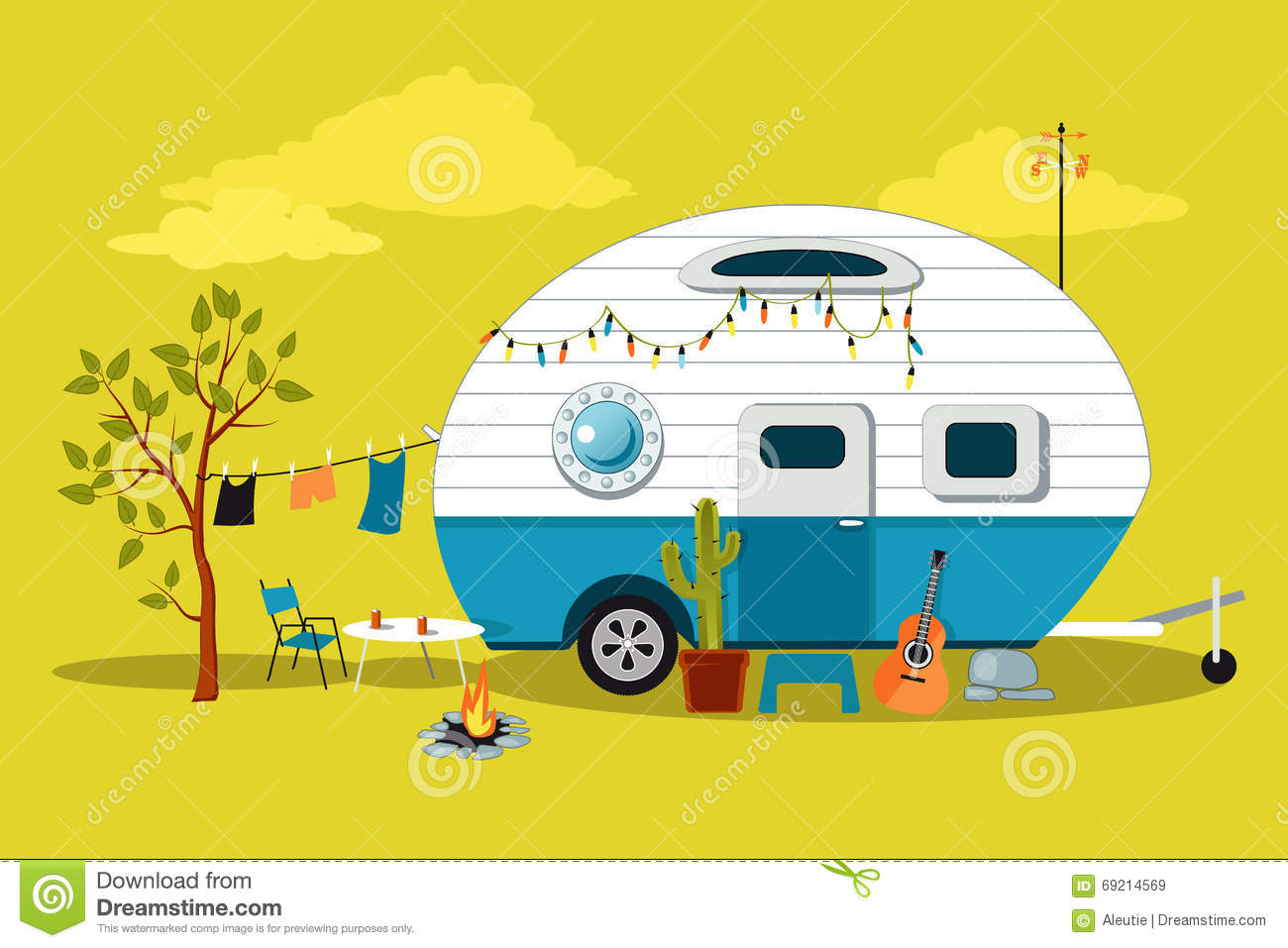 Little Vintage Camper Royalty Free Stock Images