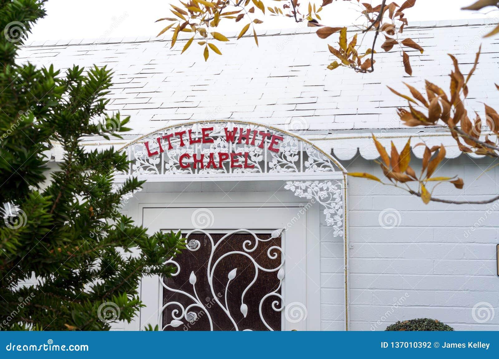 Little White Wedding Chapel.Little White Wedding Chapel In Las Vegas Nevada Editorial