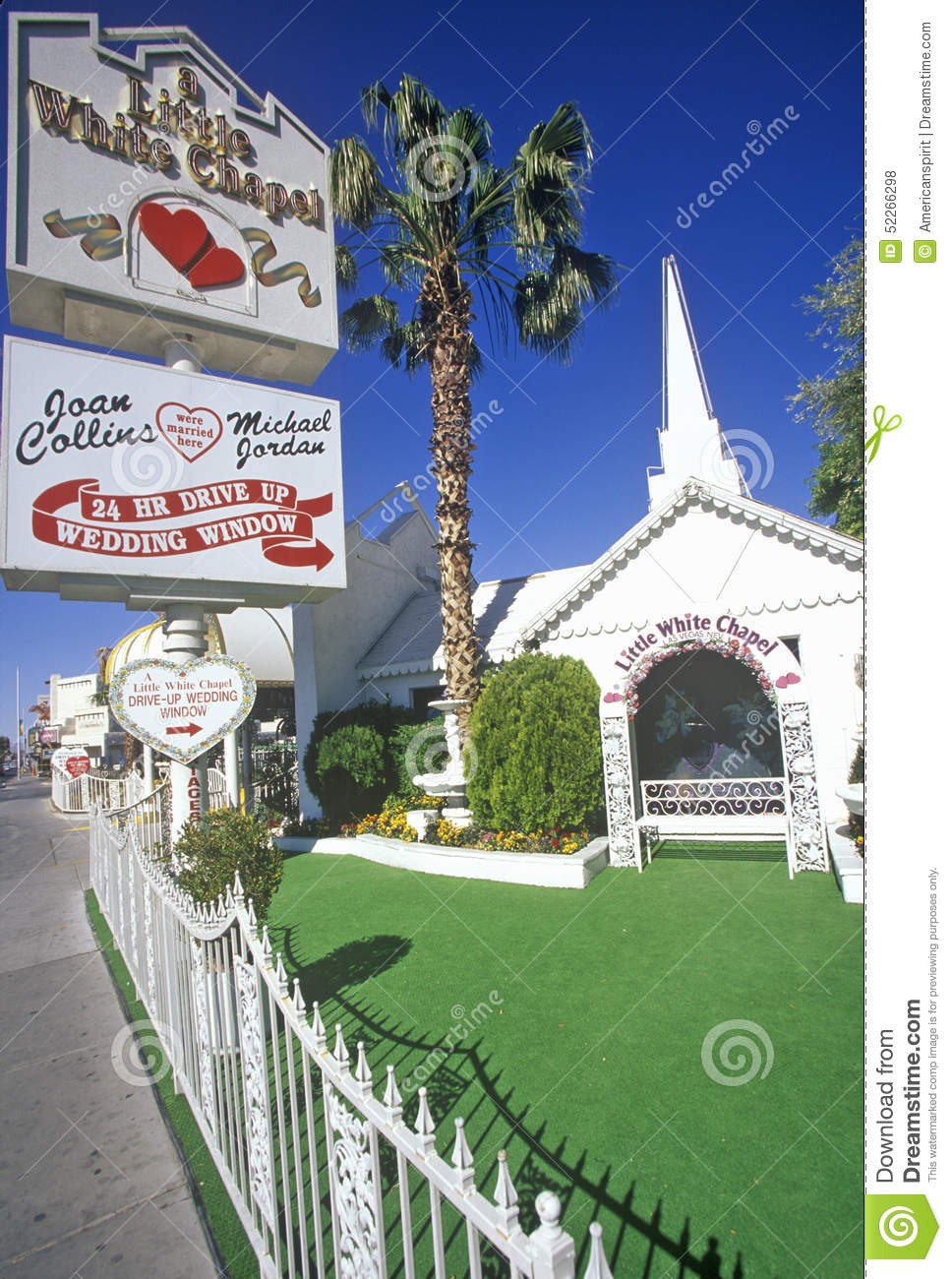 editorial stock photo little white wedding chapel las vegas nv image wedding chapel las vegas Little White Wedding Chapel Las Vegas NV Editorial Stock Photo