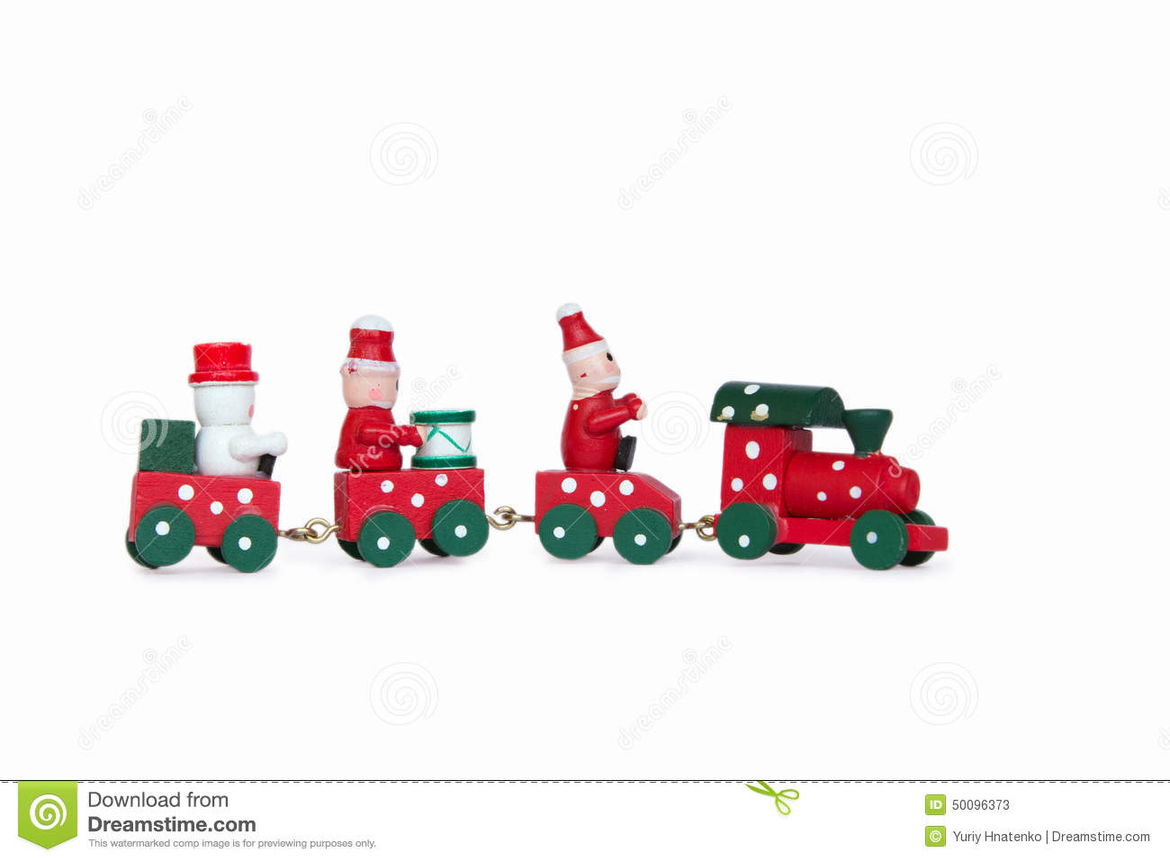 Toy Trains And Christmas : Little wooden christmas toy train stock image
