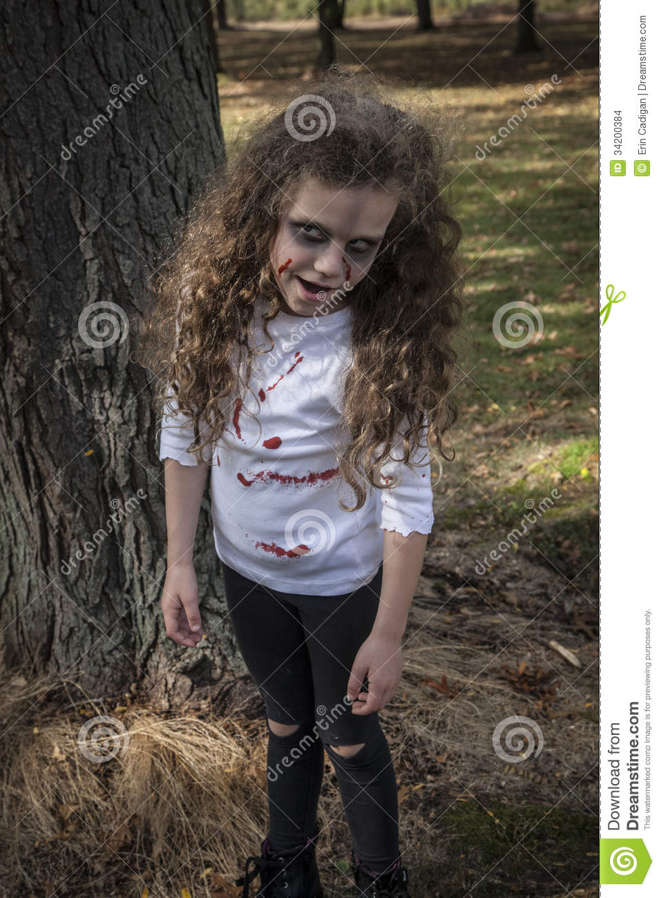 Little Zombie Girl Stock Images - Image: 34200384