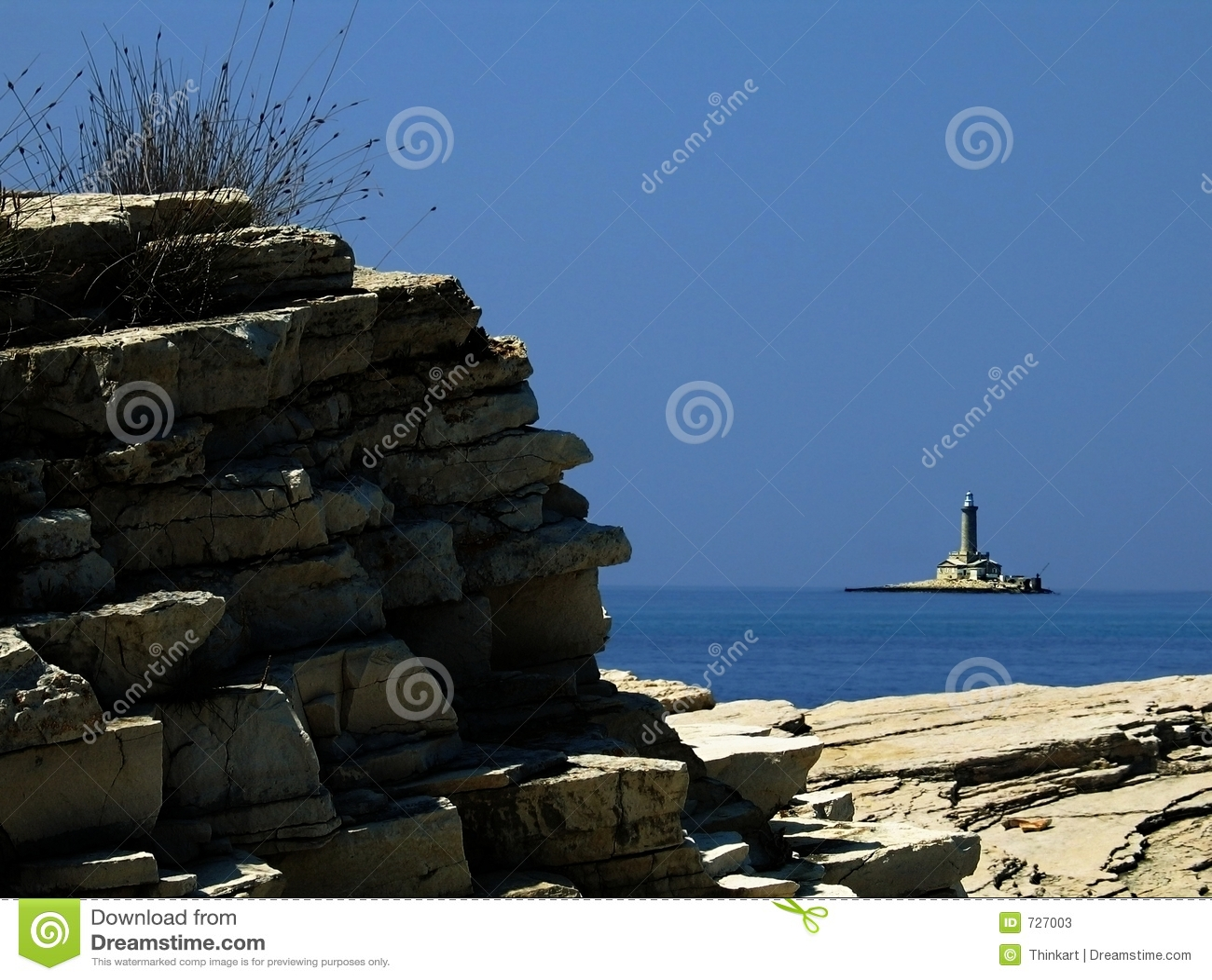 Littoral adriatique - phare de Porer