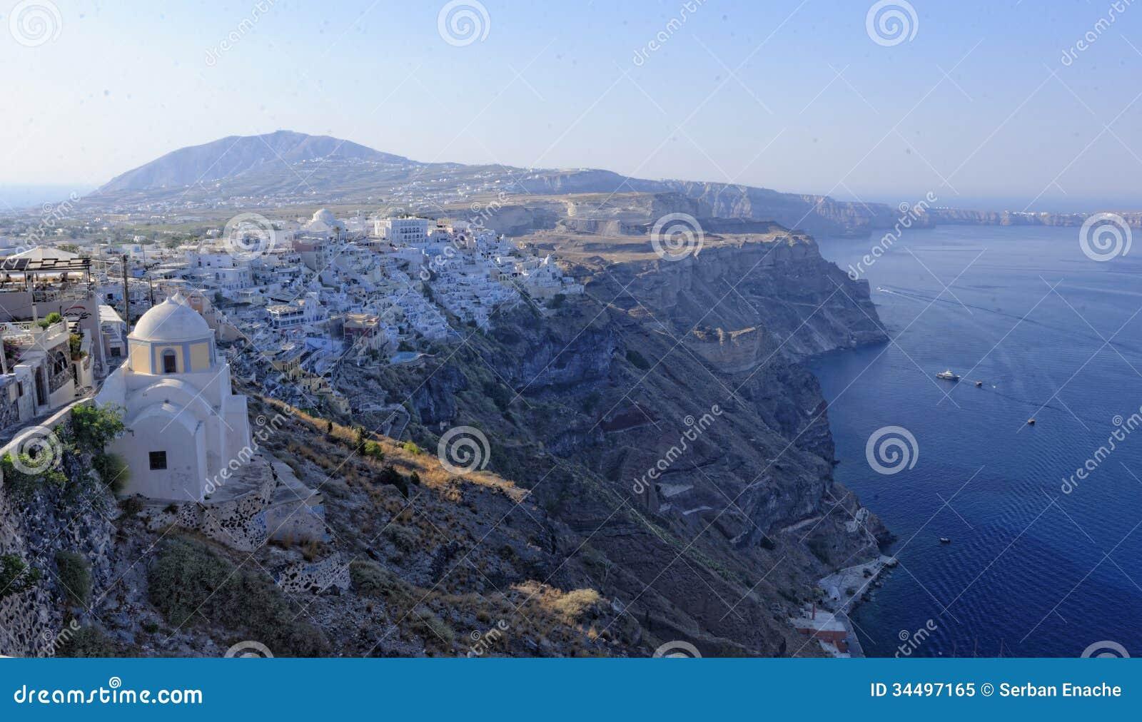 Littoral d île de Santorini