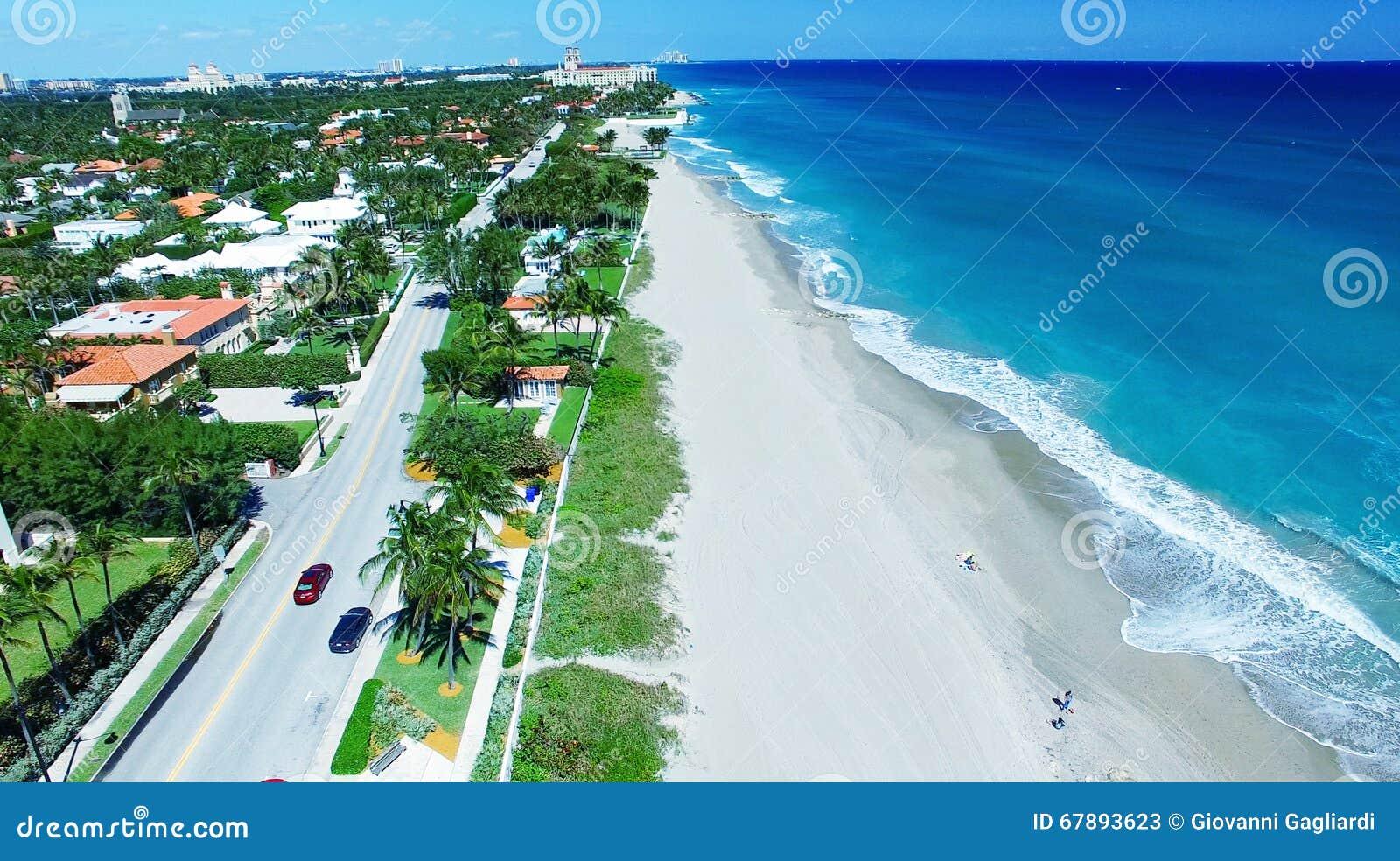 Littoral de Palm Beach, vue aérienne de la Floride