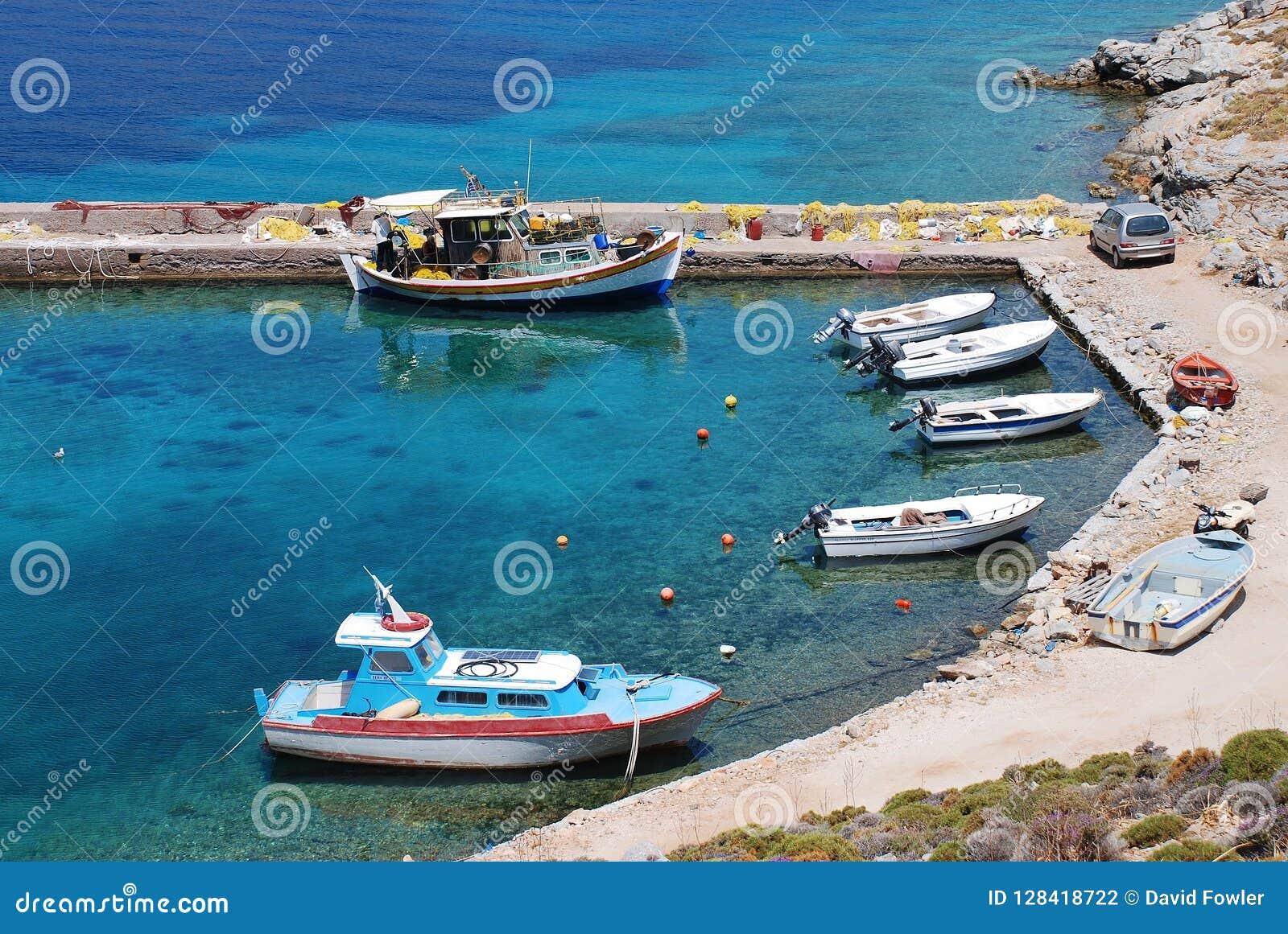 Livadia harbour, Tilos