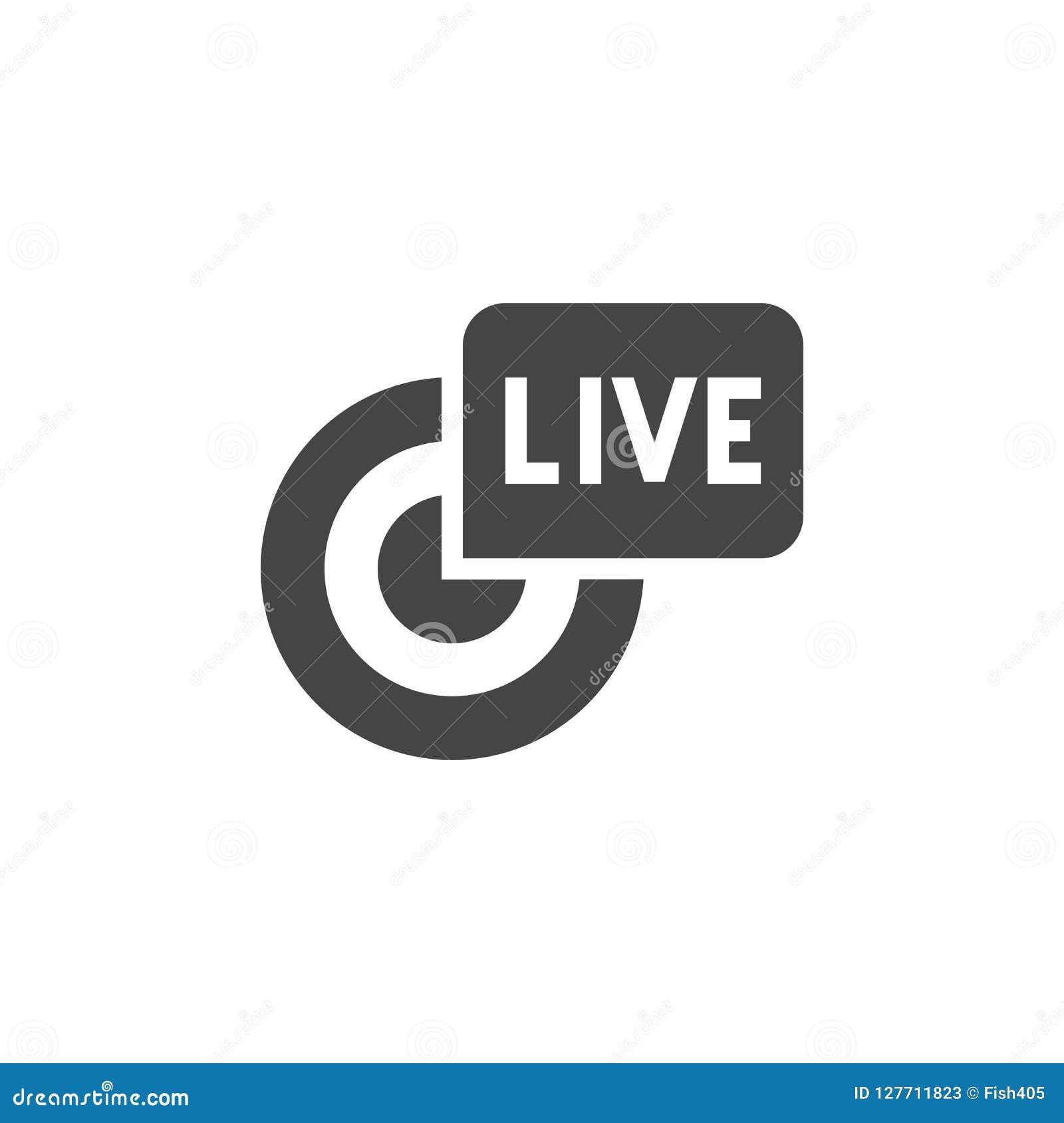 Live Broadcast Black Flat Icon  Reportage, Stream, Webcast