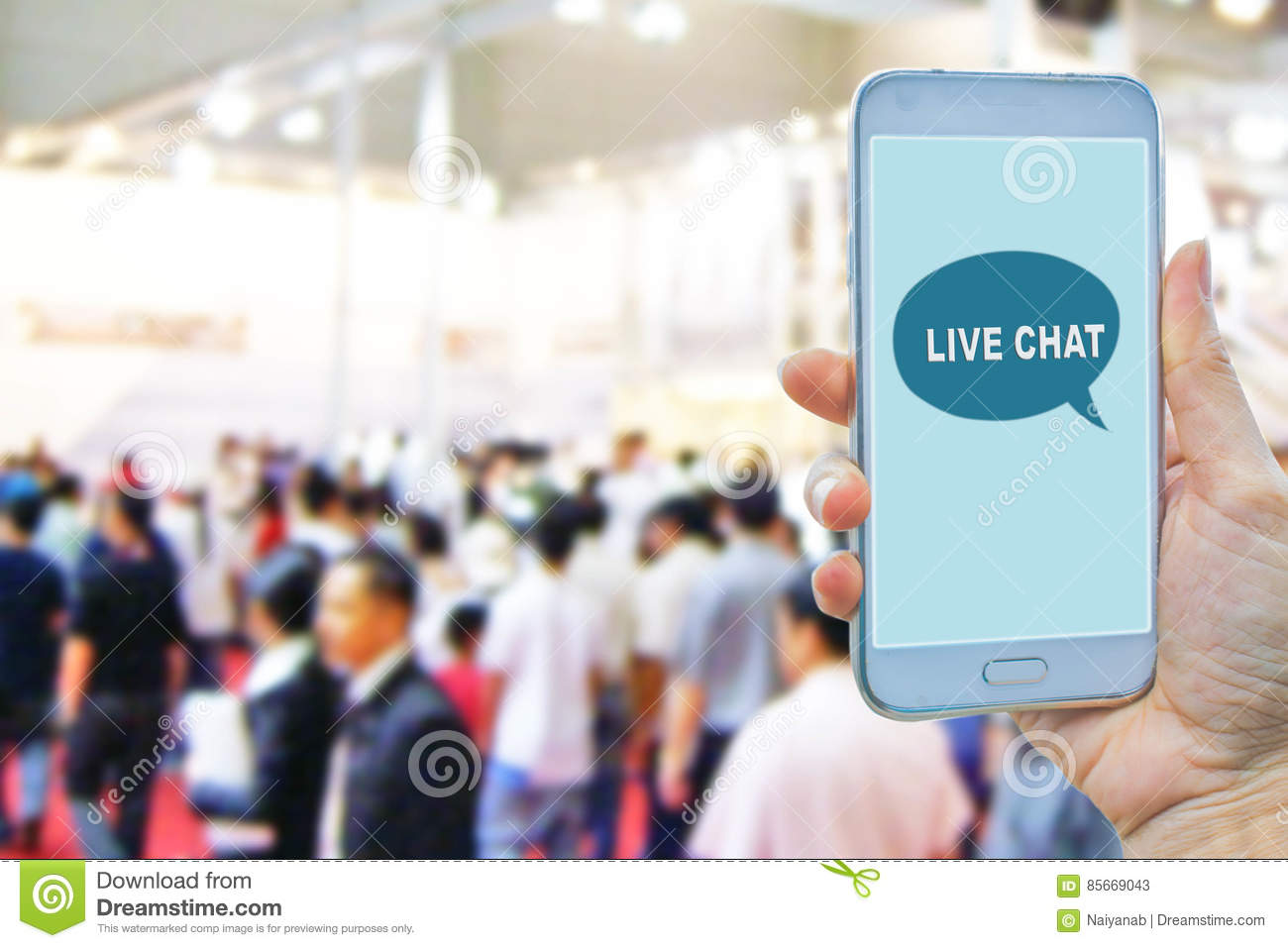 Live Chat Chatting Communication Concept