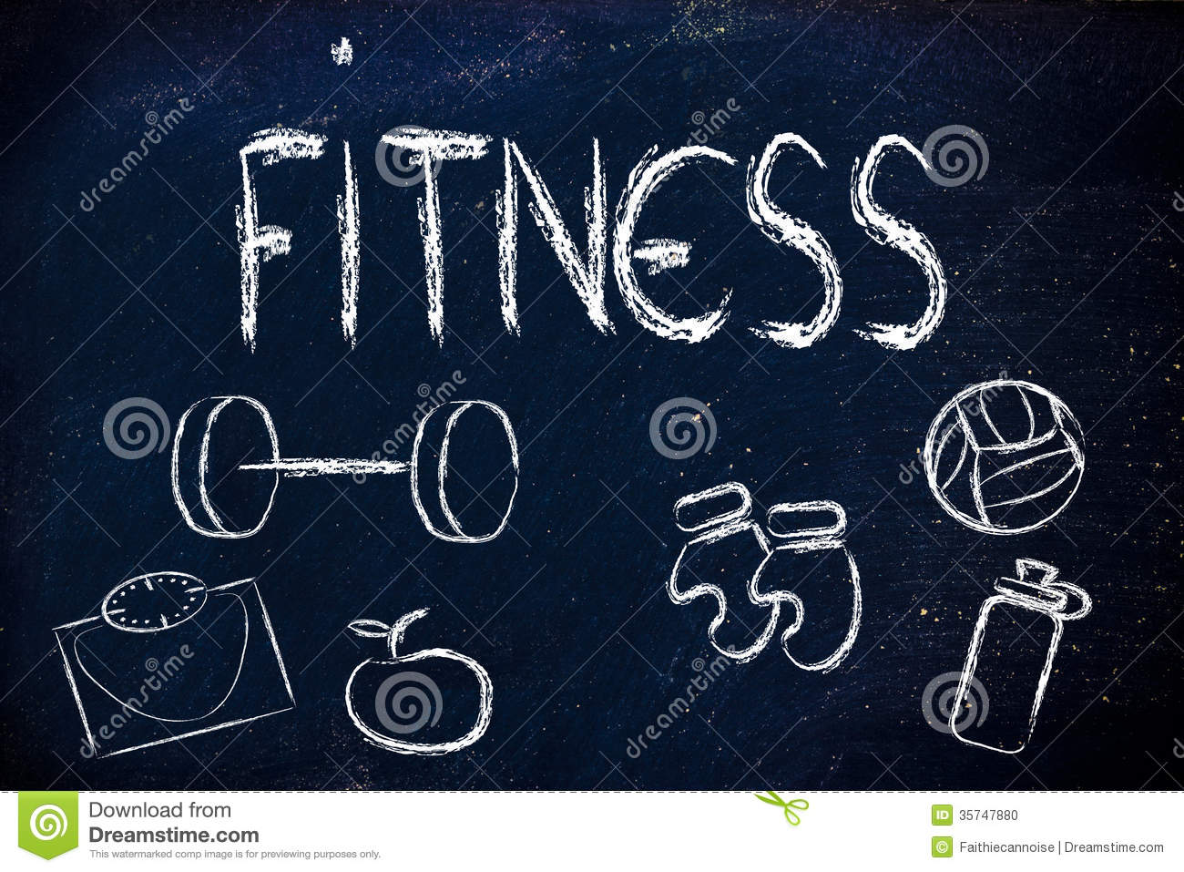 Live A Healthy And Fit Life Stock Photo Image 35747880