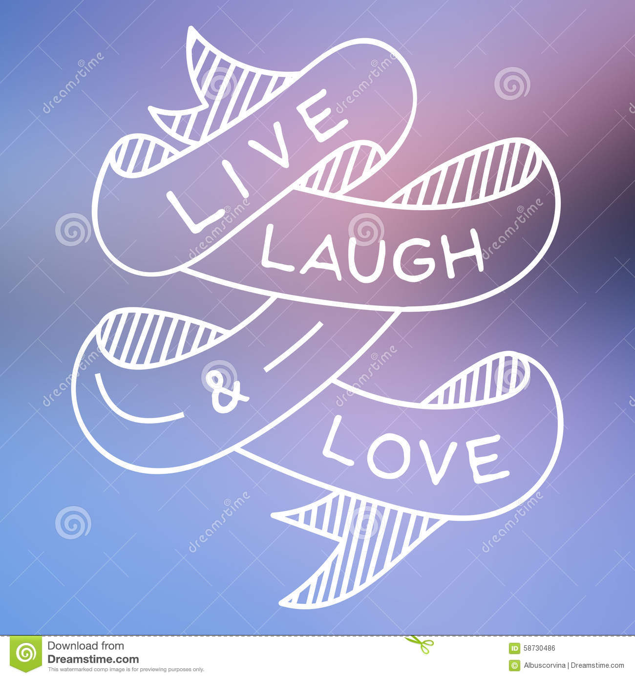 Us Stock Live Quote: Live Laugh And Love Stock Illustration. Image Of Vector