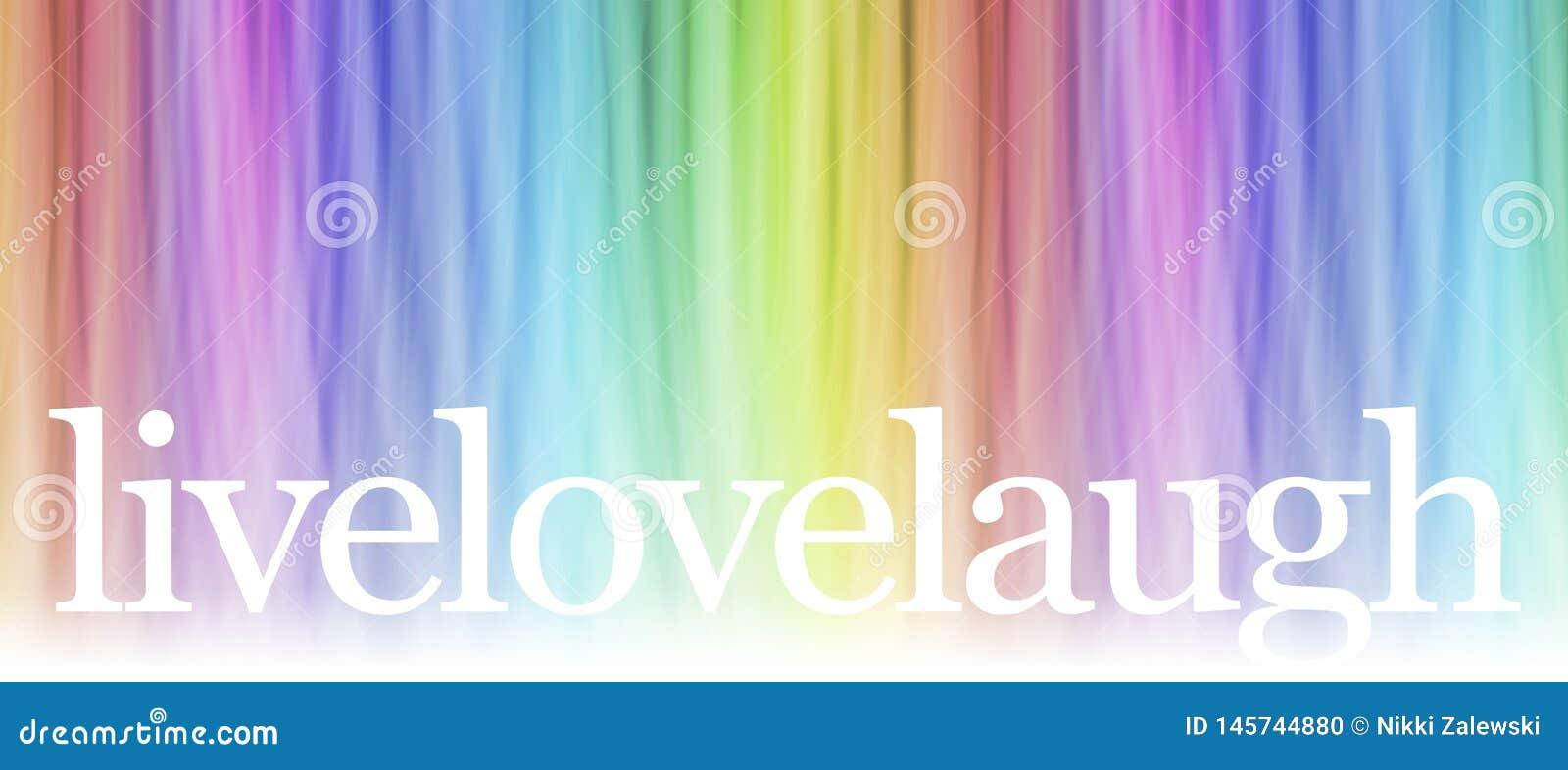 Live Laugh Love Message Banner