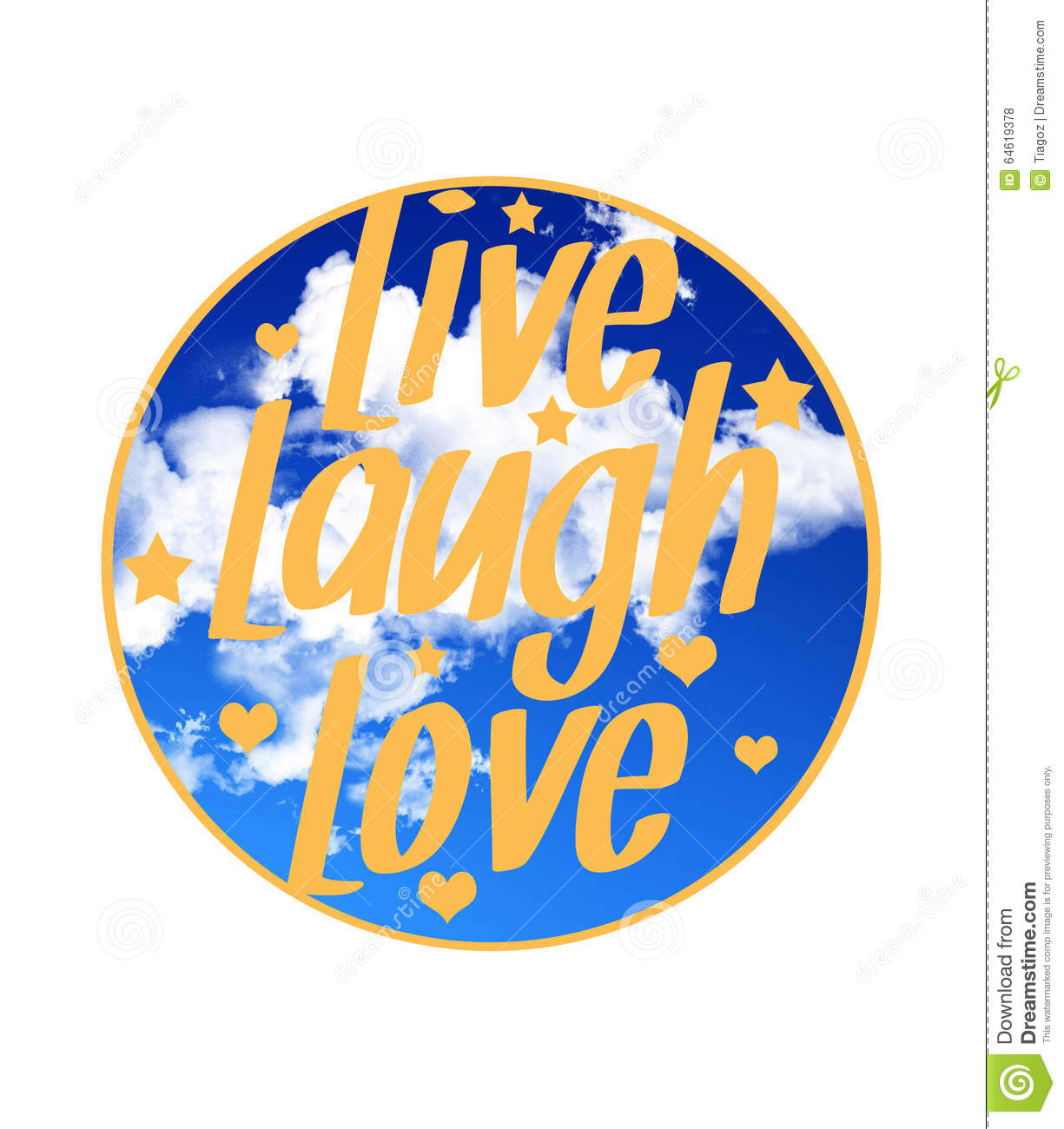 Live laugh love quote stock illustration. Illustration of live ...
