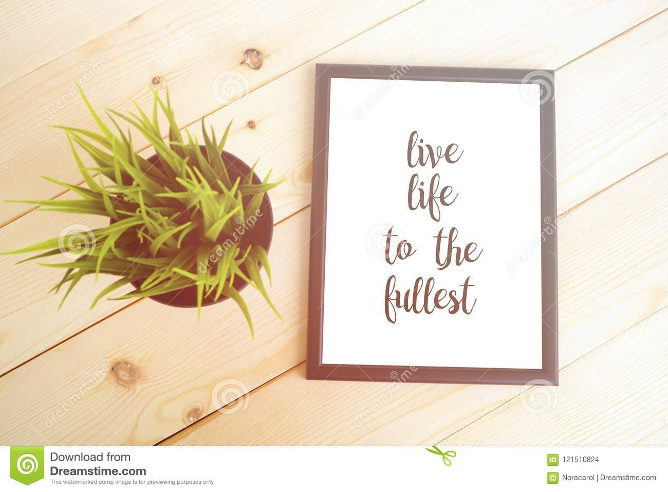 Live Life To The Fullest Quote Stock Photo Image Of Decoration