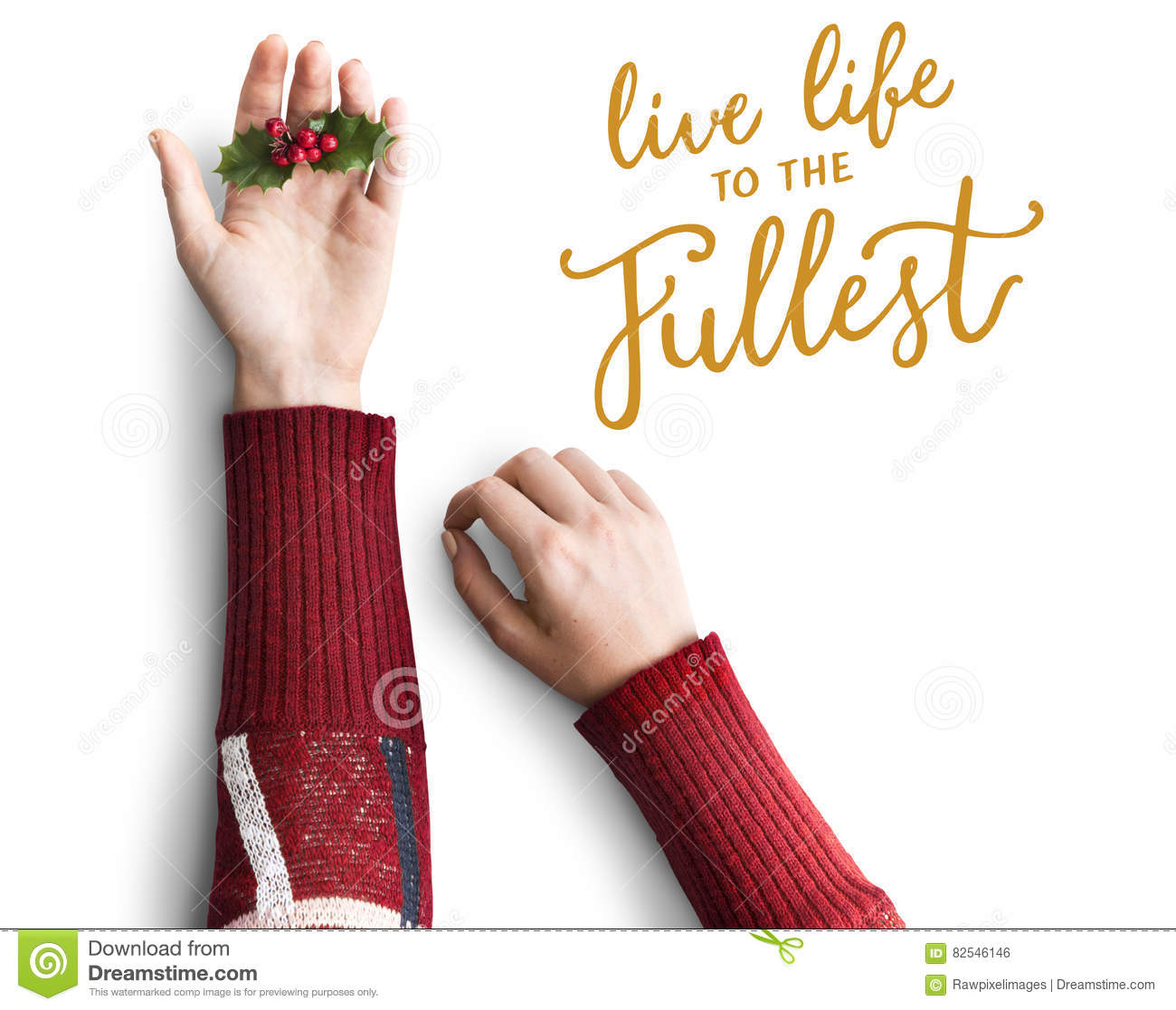 Live Life To The Fullest Quote Message Stock Photo Image Of Note