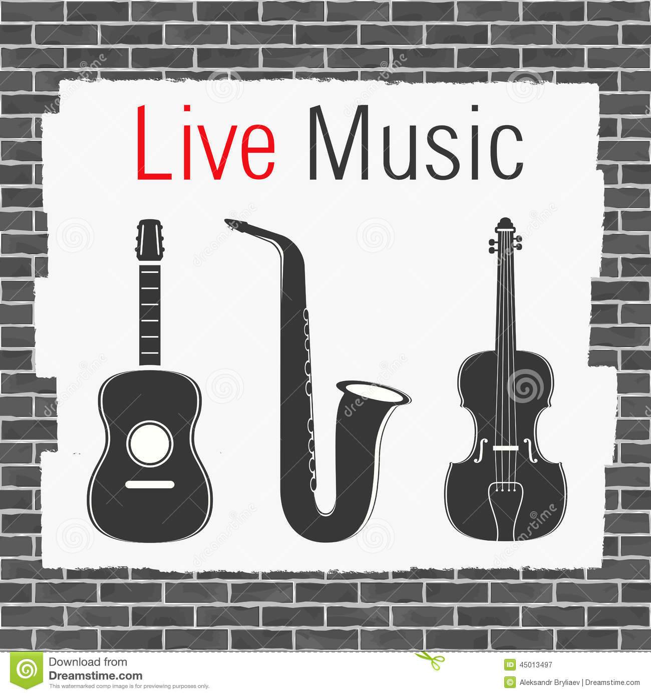 Arts Live Song Room: Live Music Stock Vector