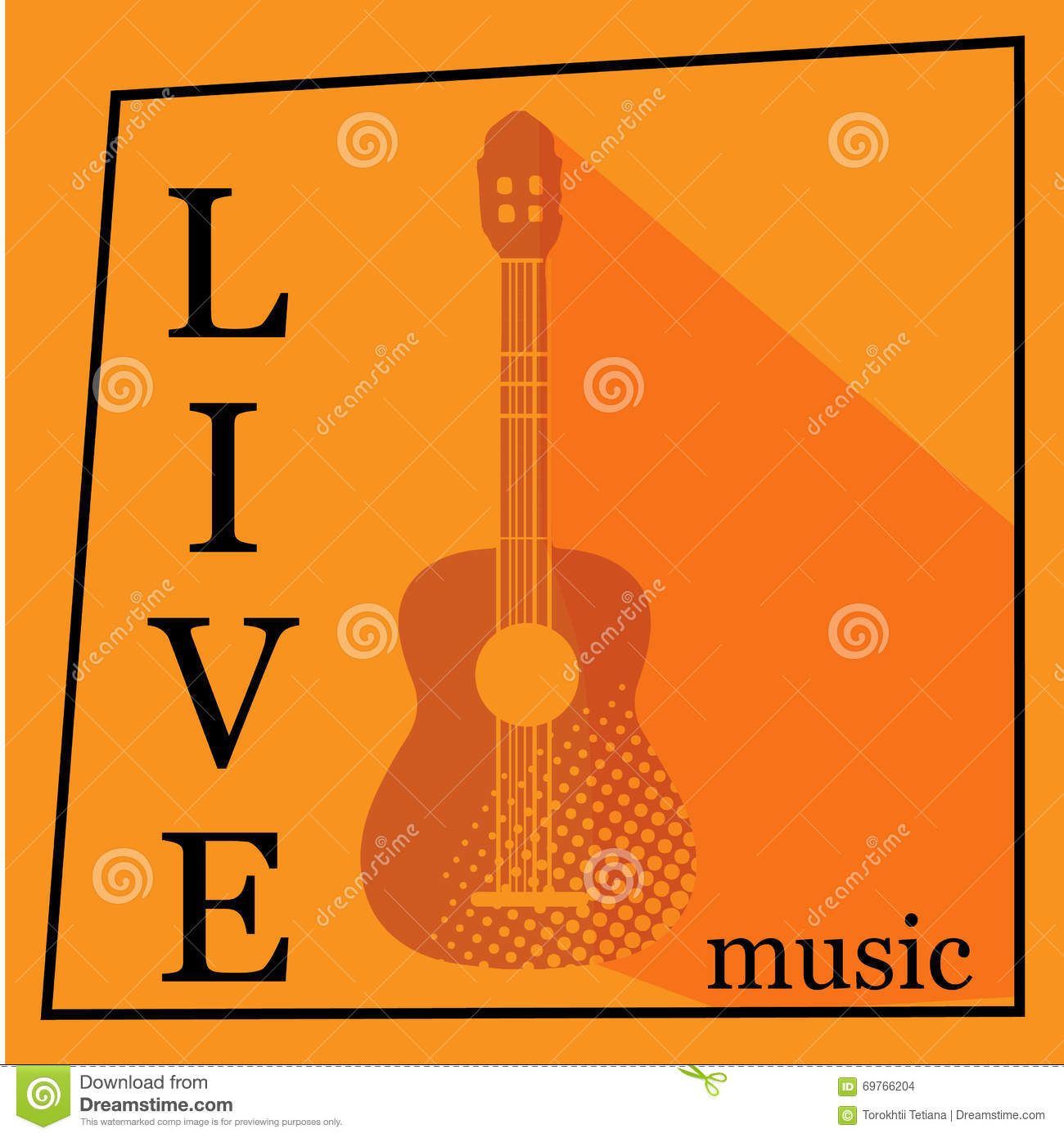 live music vector poster template stock photo image 69766204. Black Bedroom Furniture Sets. Home Design Ideas