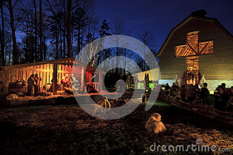 download live nativity christmas at the billy graham library editorial photography image of living