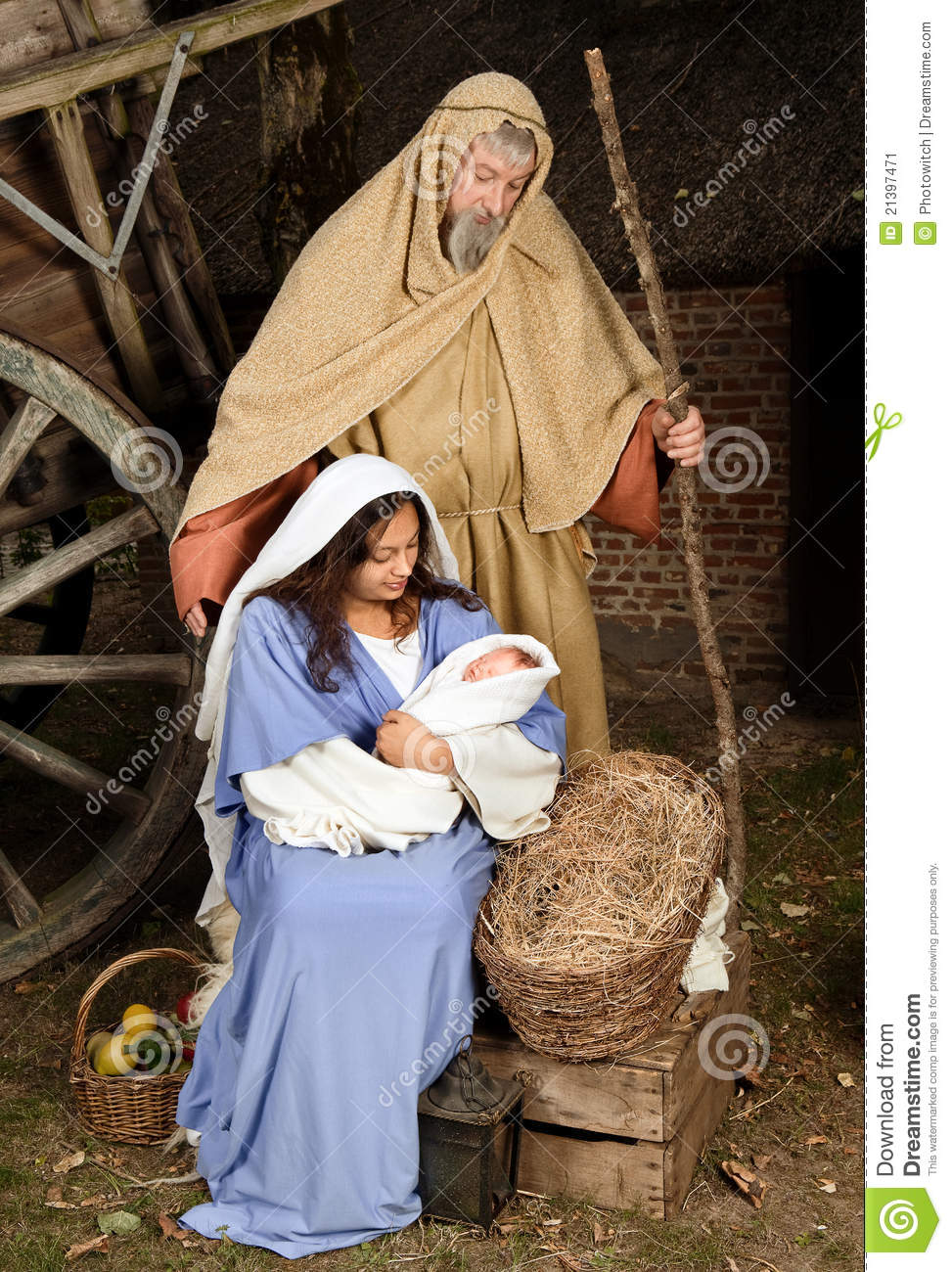 Live Nativity Scene Stock Image Image 21397471