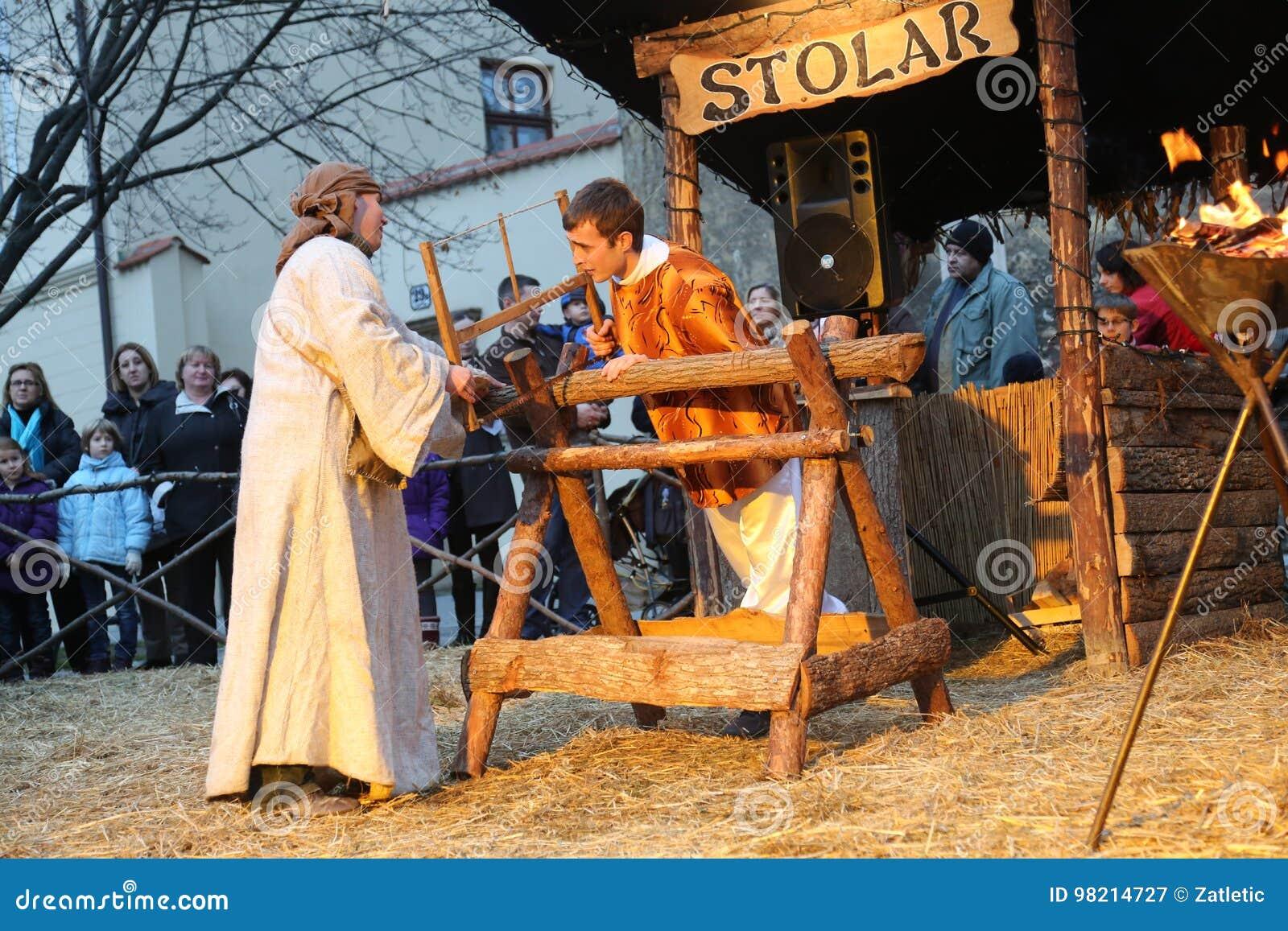 Live Nativity Scene i Zagreb