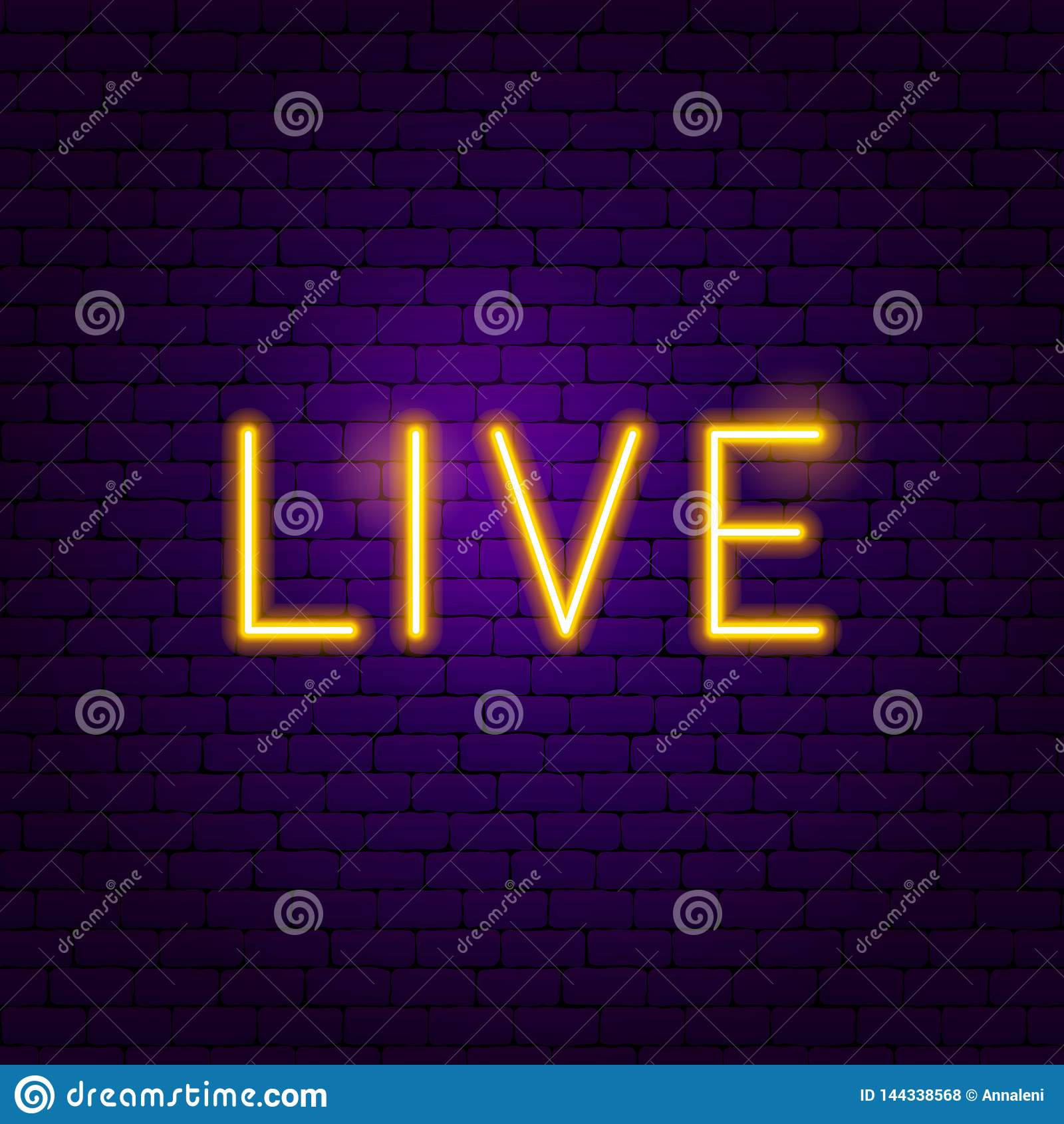 Live Neon Label