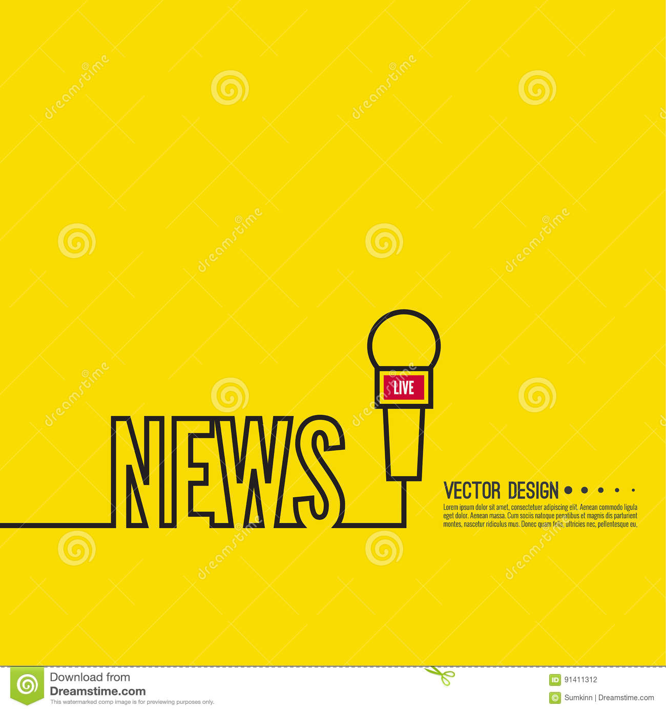 Live news template stock vector illustration of journalism 91411312 live news template toneelgroepblik Gallery