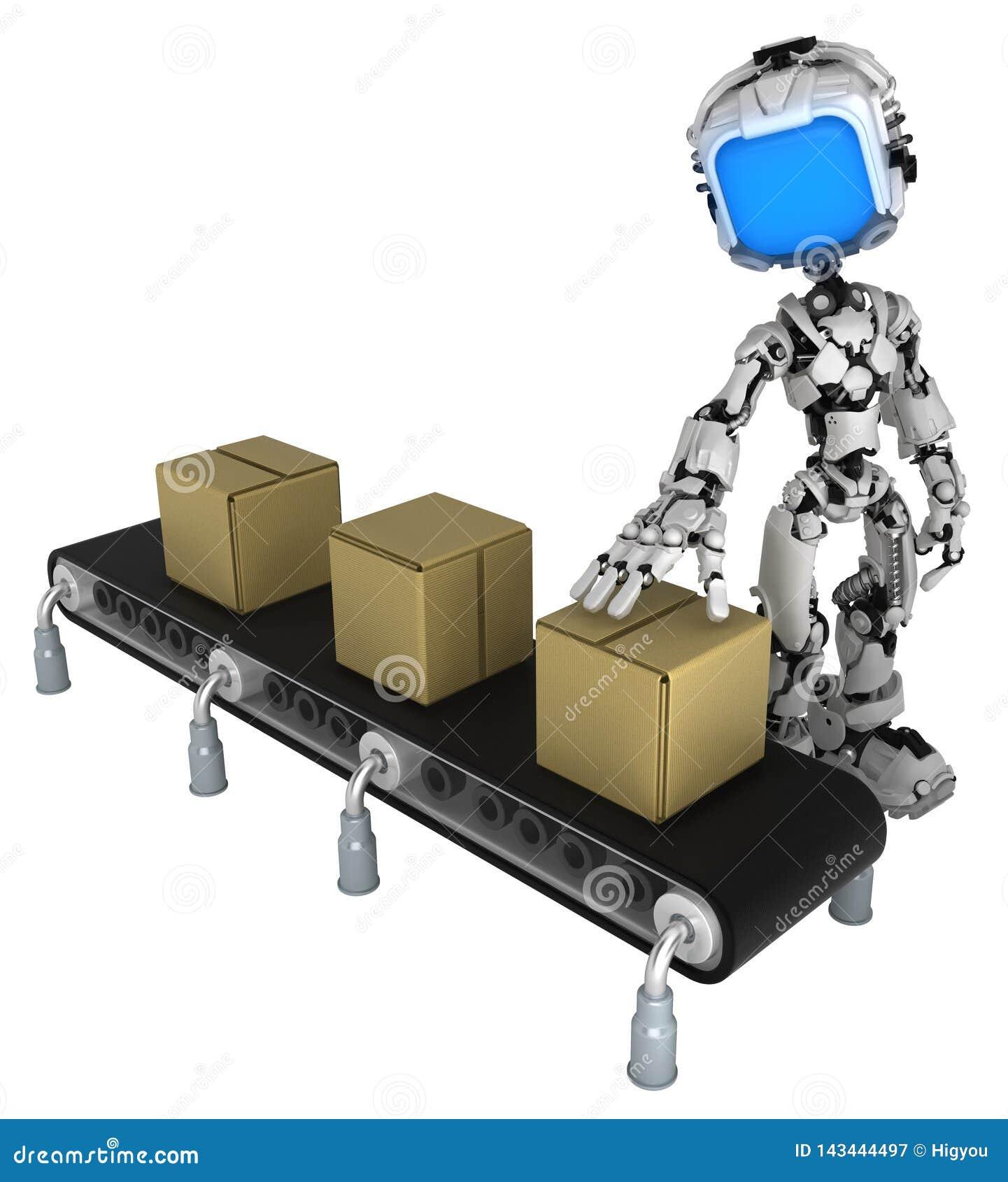 Live Screen Robot, contrôle de boîte de convoyeur