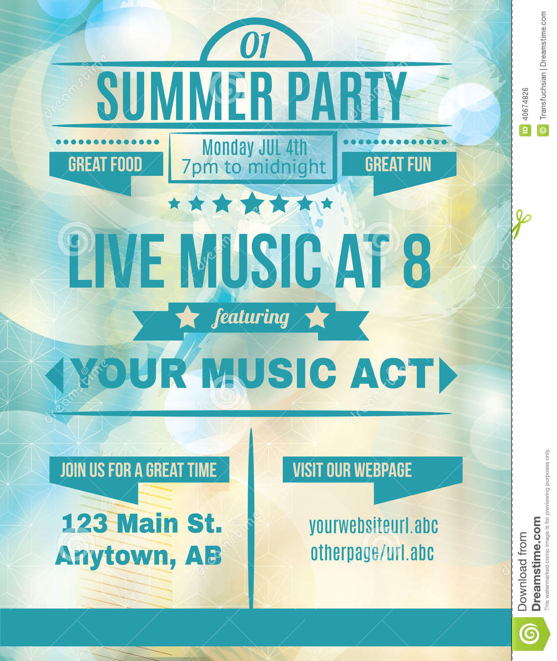 Live Summer Music flyer