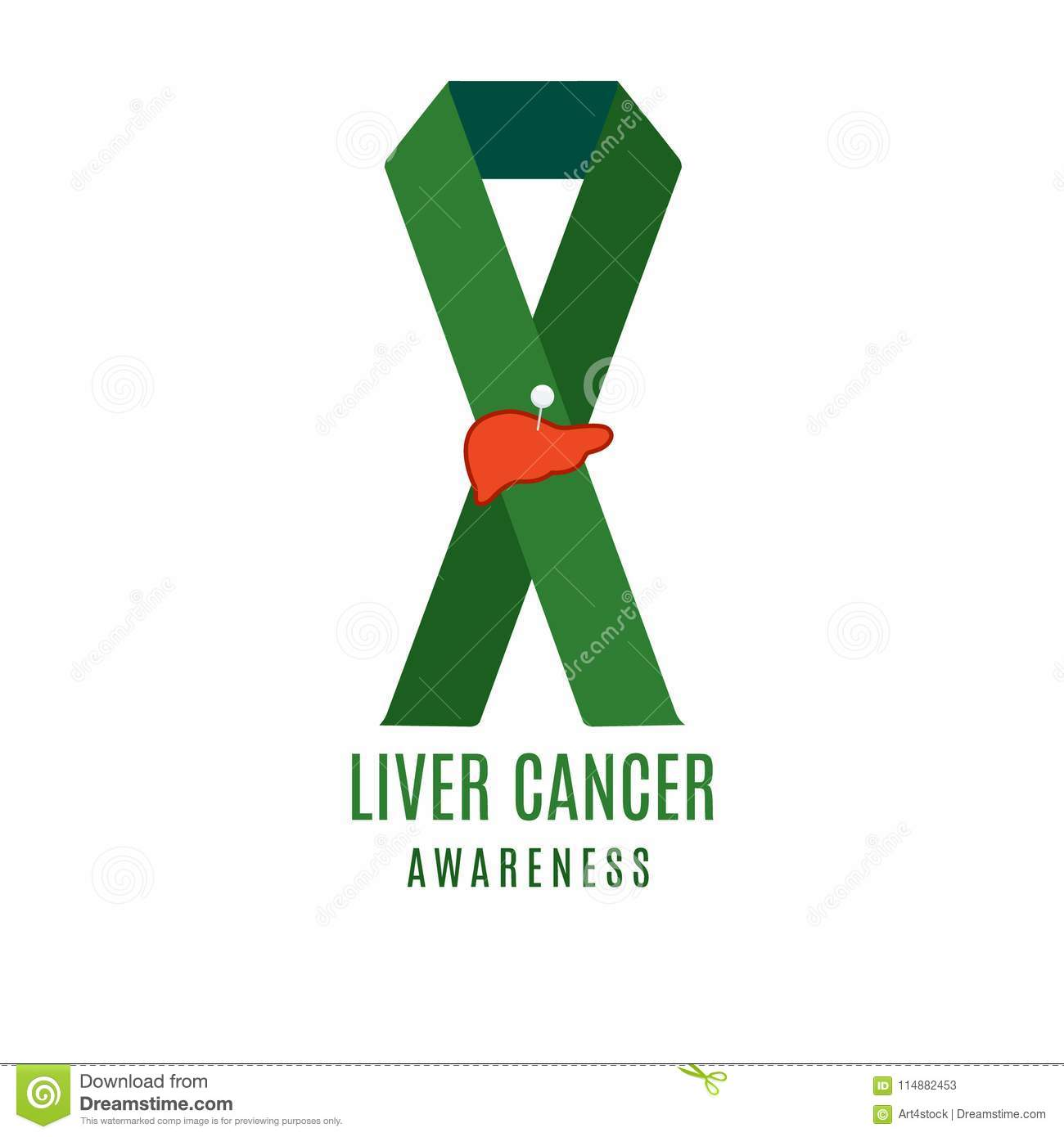 Liver cancer ribbon with a needle pin stock vector illustration of download liver cancer ribbon with a needle pin stock vector illustration of diagnosis design maxwellsz