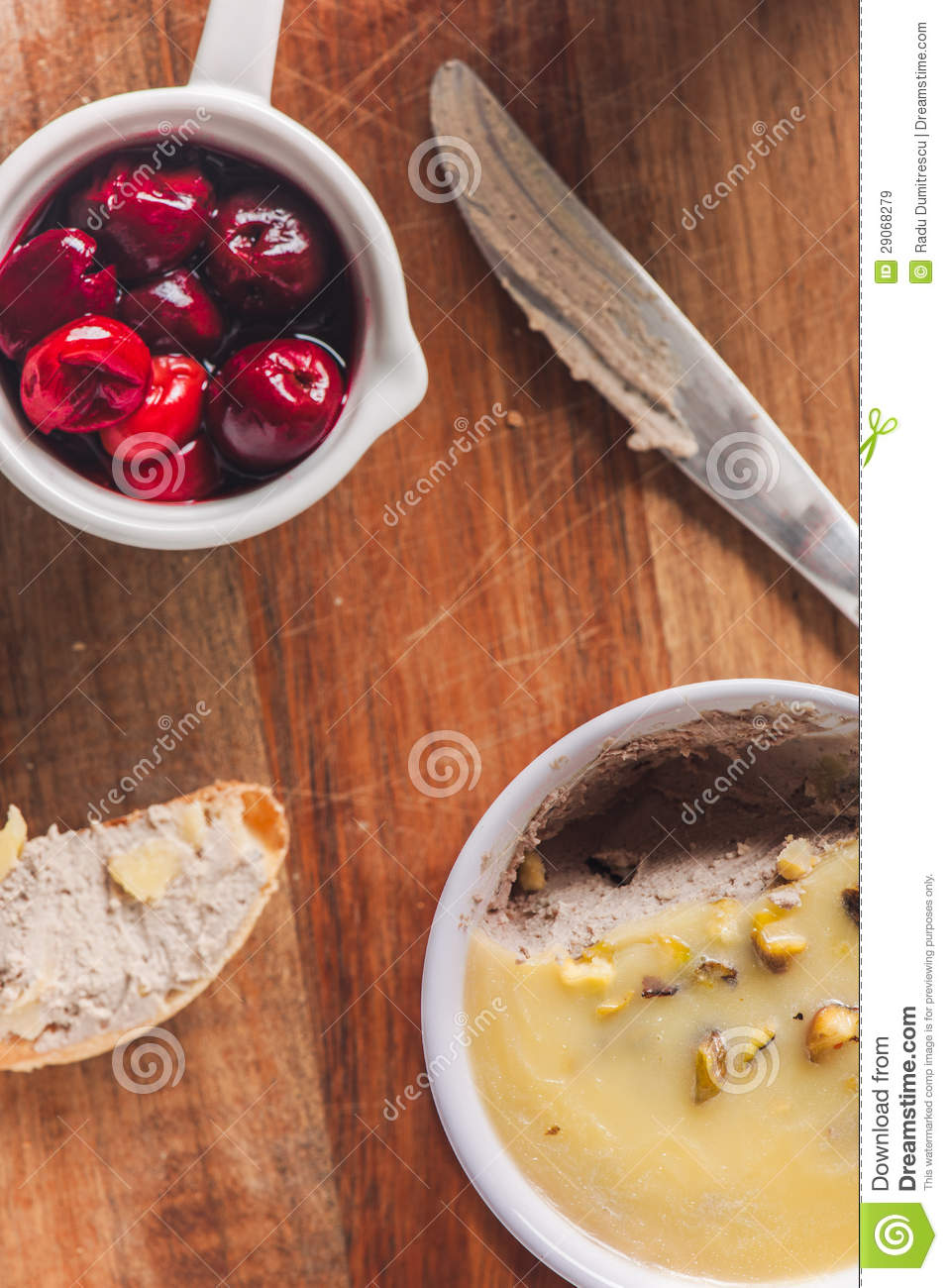 Liver Pate With Pickled Sour Cherries Royalty Free Stock Images ...