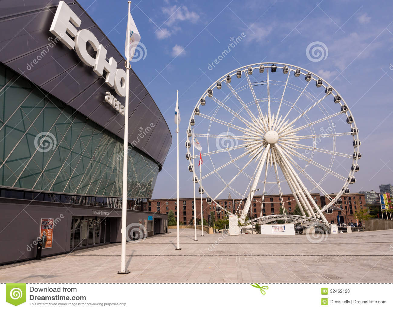 Liverpool Big Wheel And Echo Marina Editorial Stock Photo - Image ...
