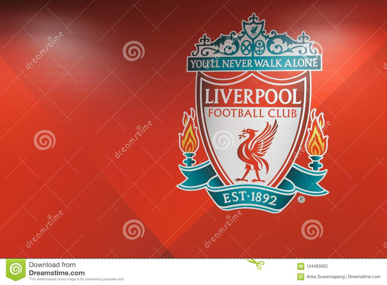 Liverpool Football Club Logo. Editorial Photography