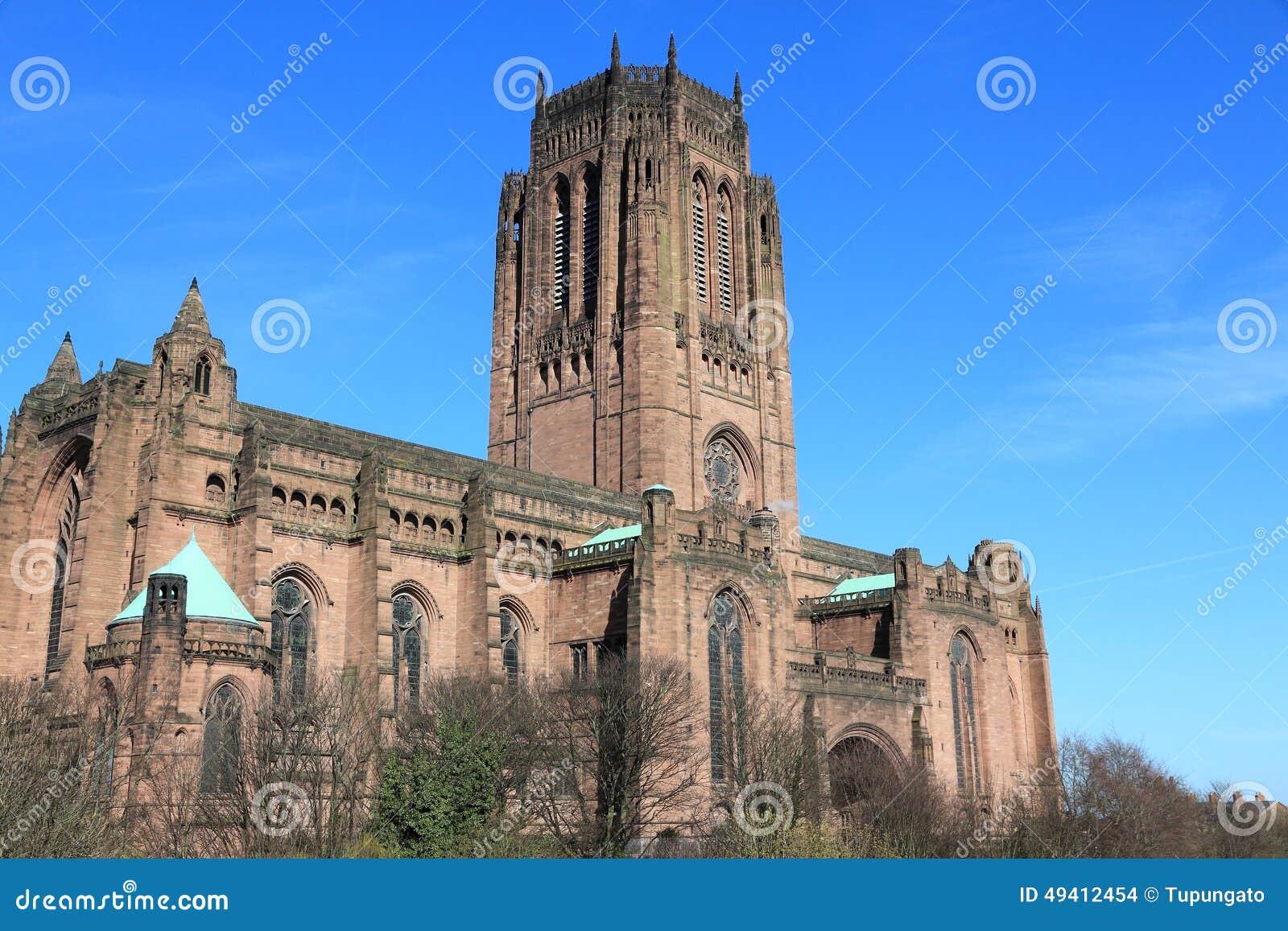 Download Liverpool-Kathedrale stockfoto. Bild von tourismus, zieleinheit - 49412454