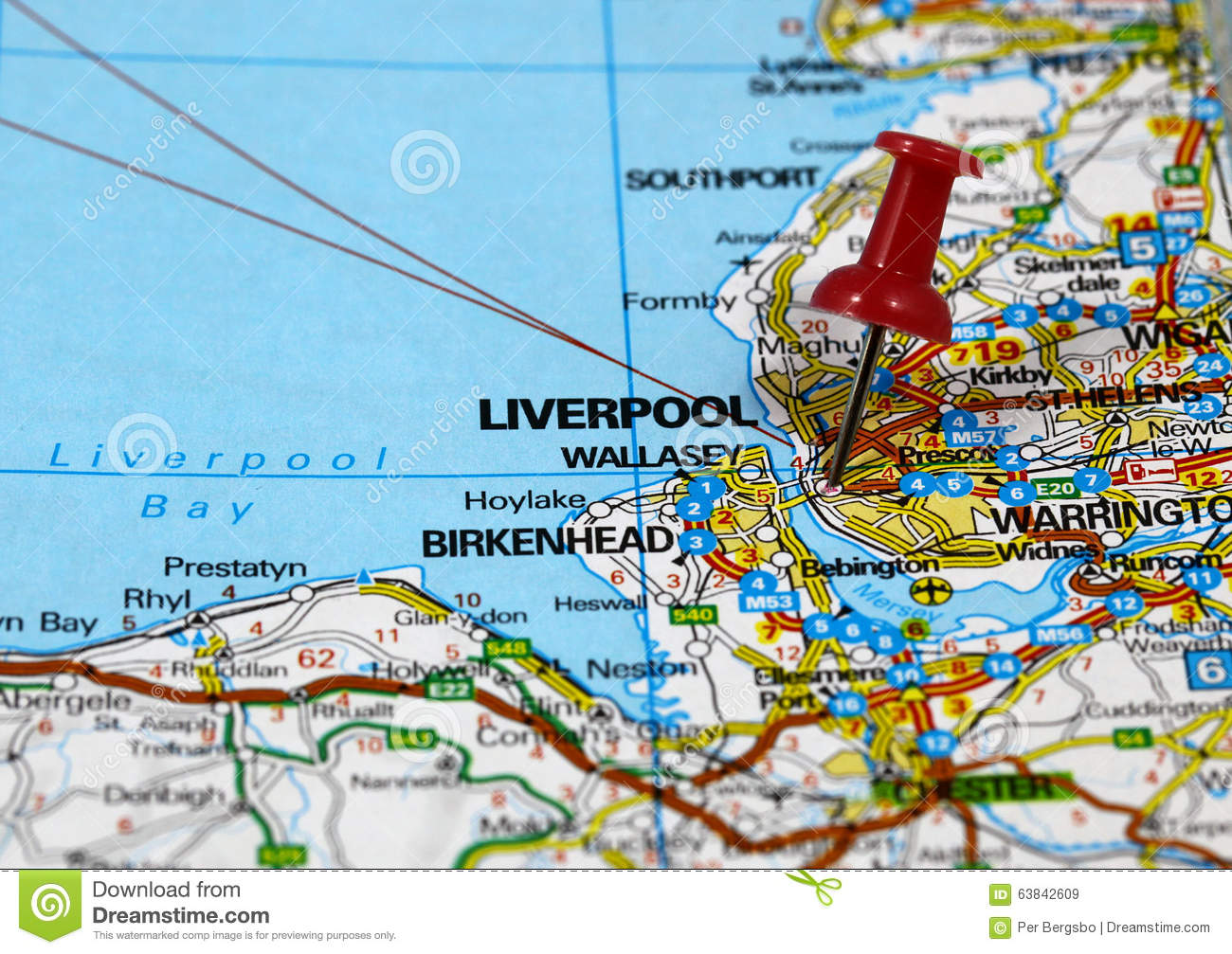 Liverpool Map Of England.Liverpool Stock Image Image Of Road Textured Blackpool 63842609