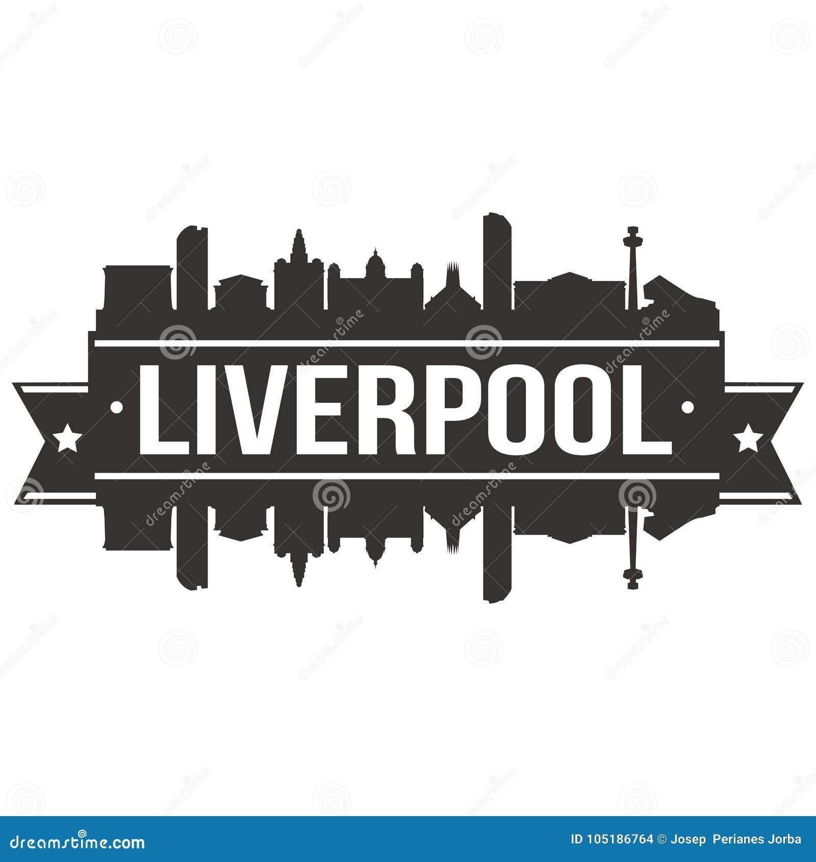 Liverpool United Kingdom Euro Europe Icon Vector Art Design Skyline Flat City Silhouette Editable Template Stock Vector Illustration Of Label Banner 105186764