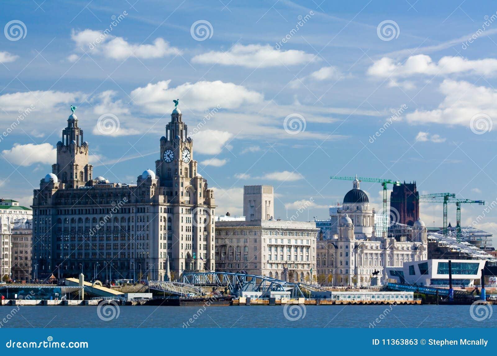 Liverpool-Wasserfrontseite