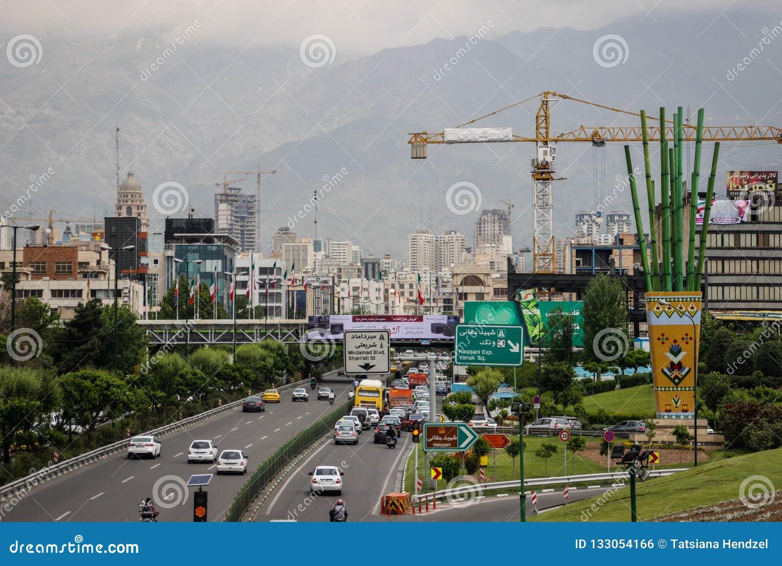 Livet av den iranska huvudstaden Teheran