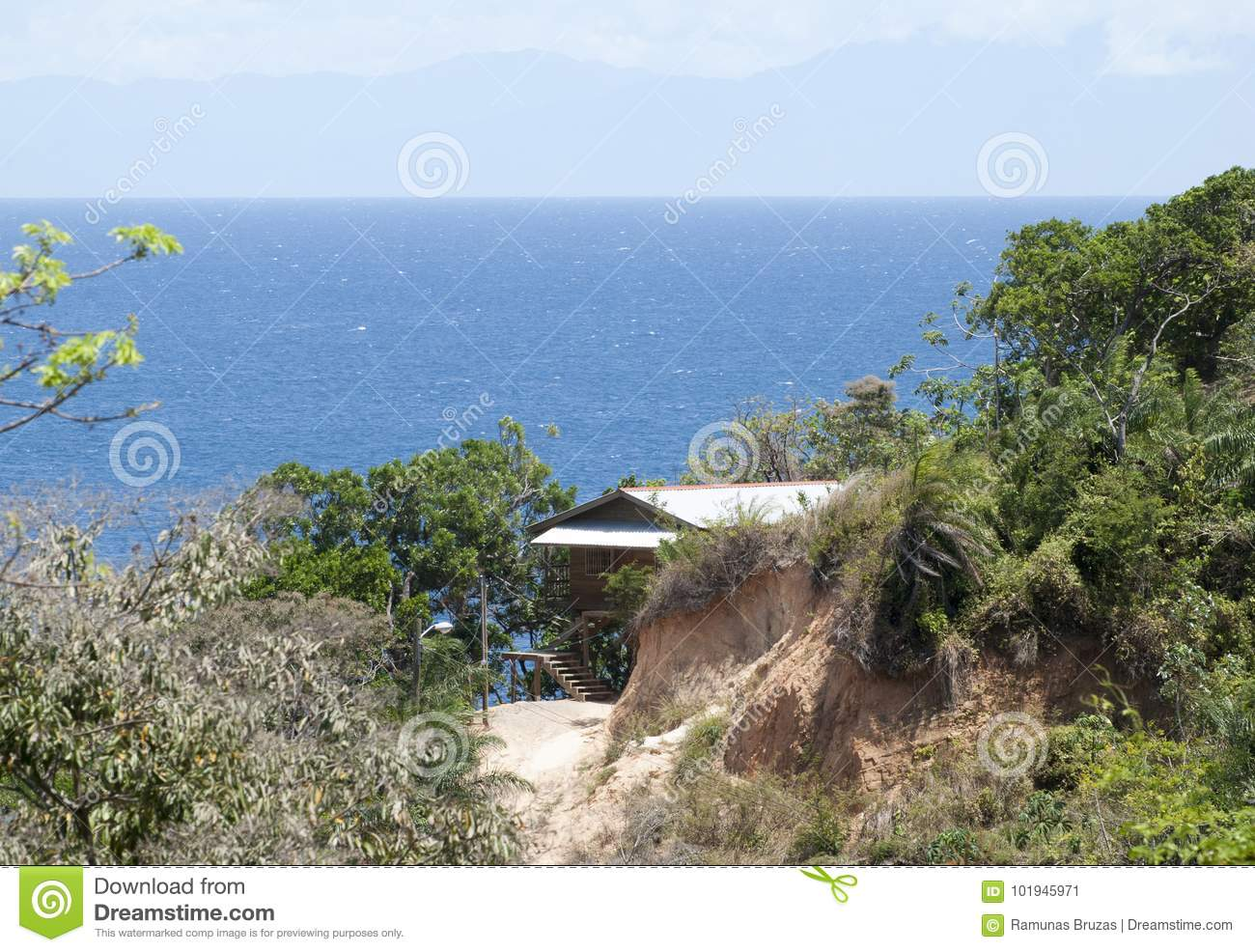 Download Living On Caribbean Island Stock Image. Image Of House   101945971