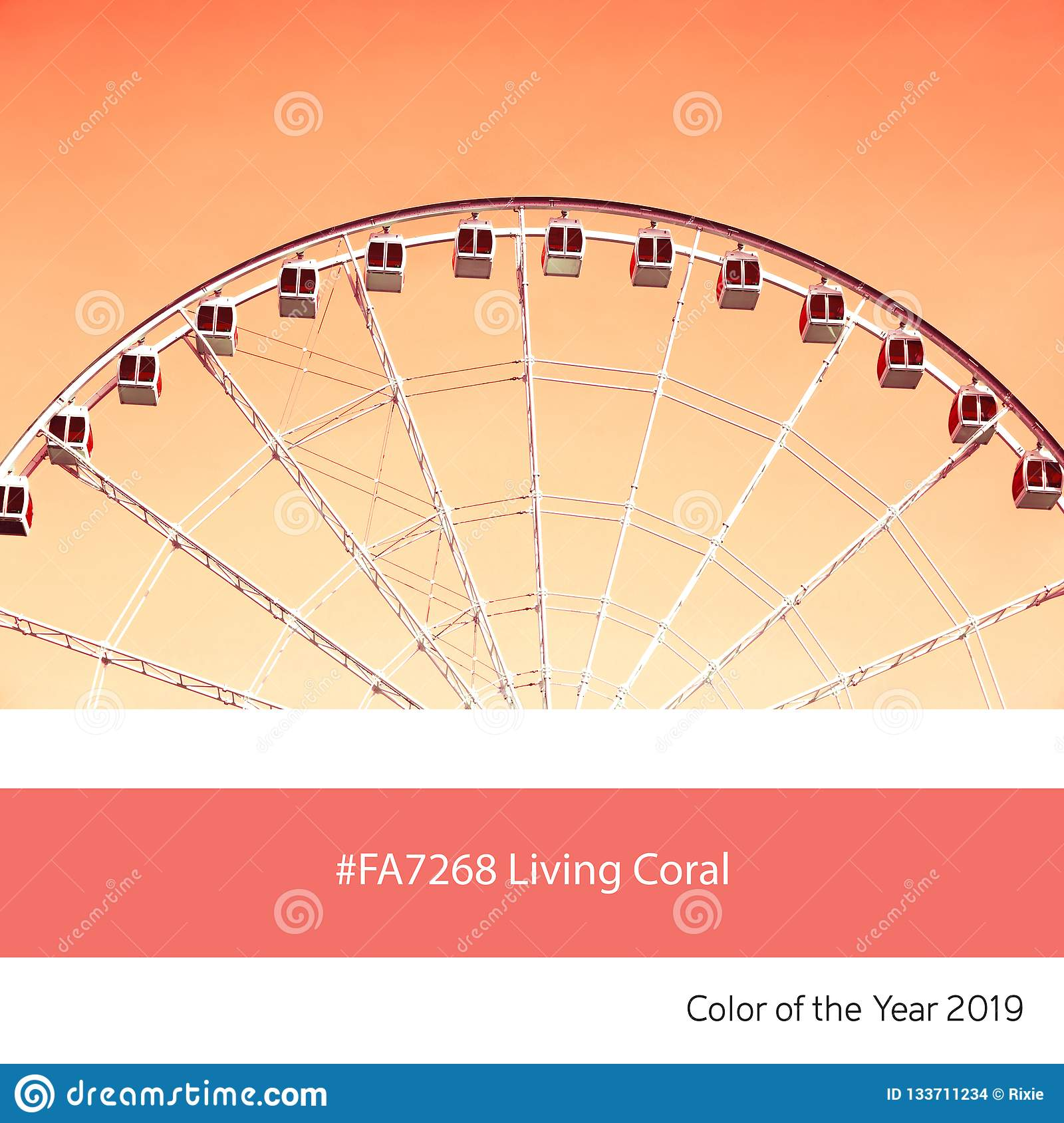 Living Coral Color of the Year, Ferris wheel
