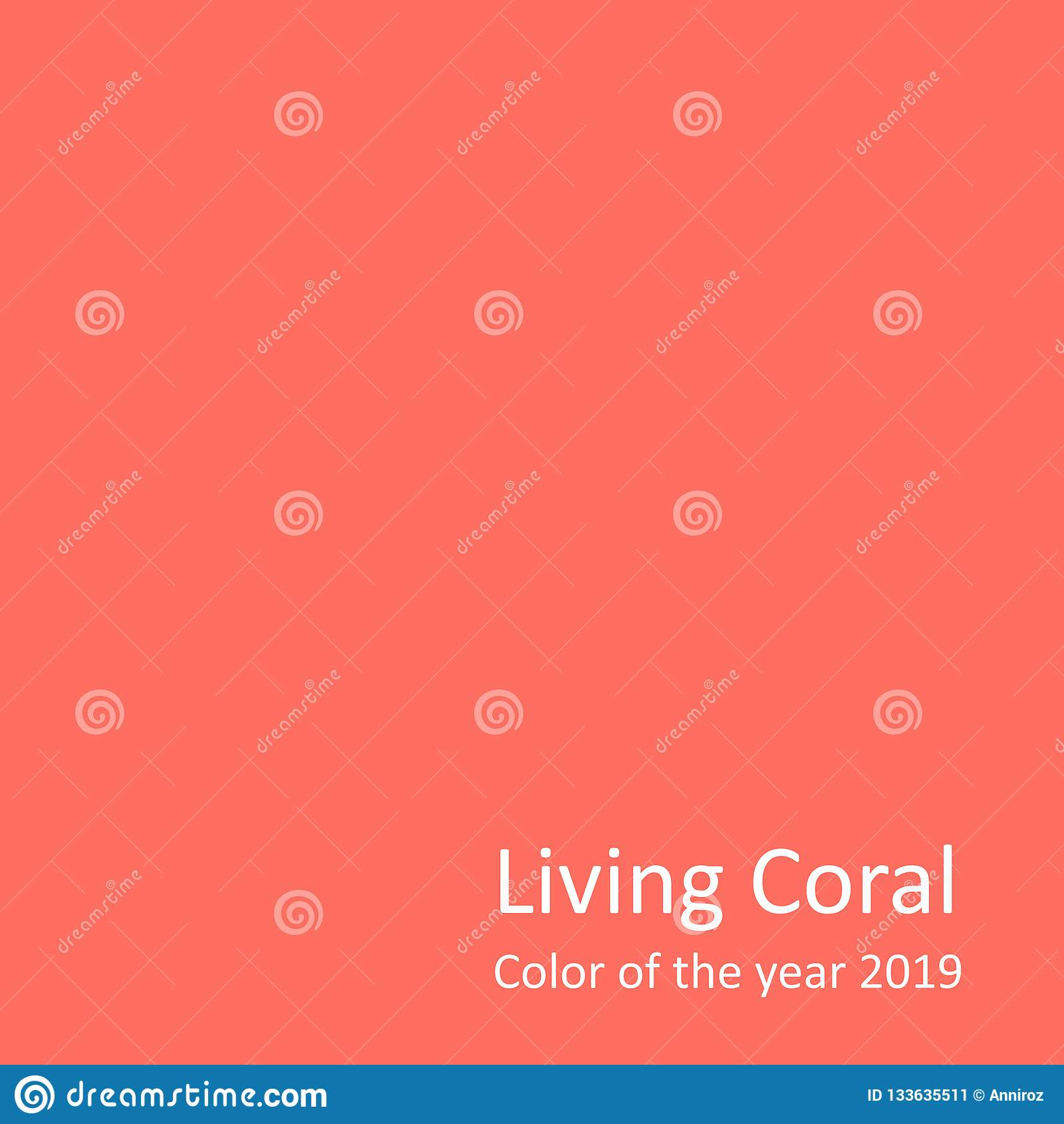 Living Coral Color Of The Year 2019 Stock Illustration