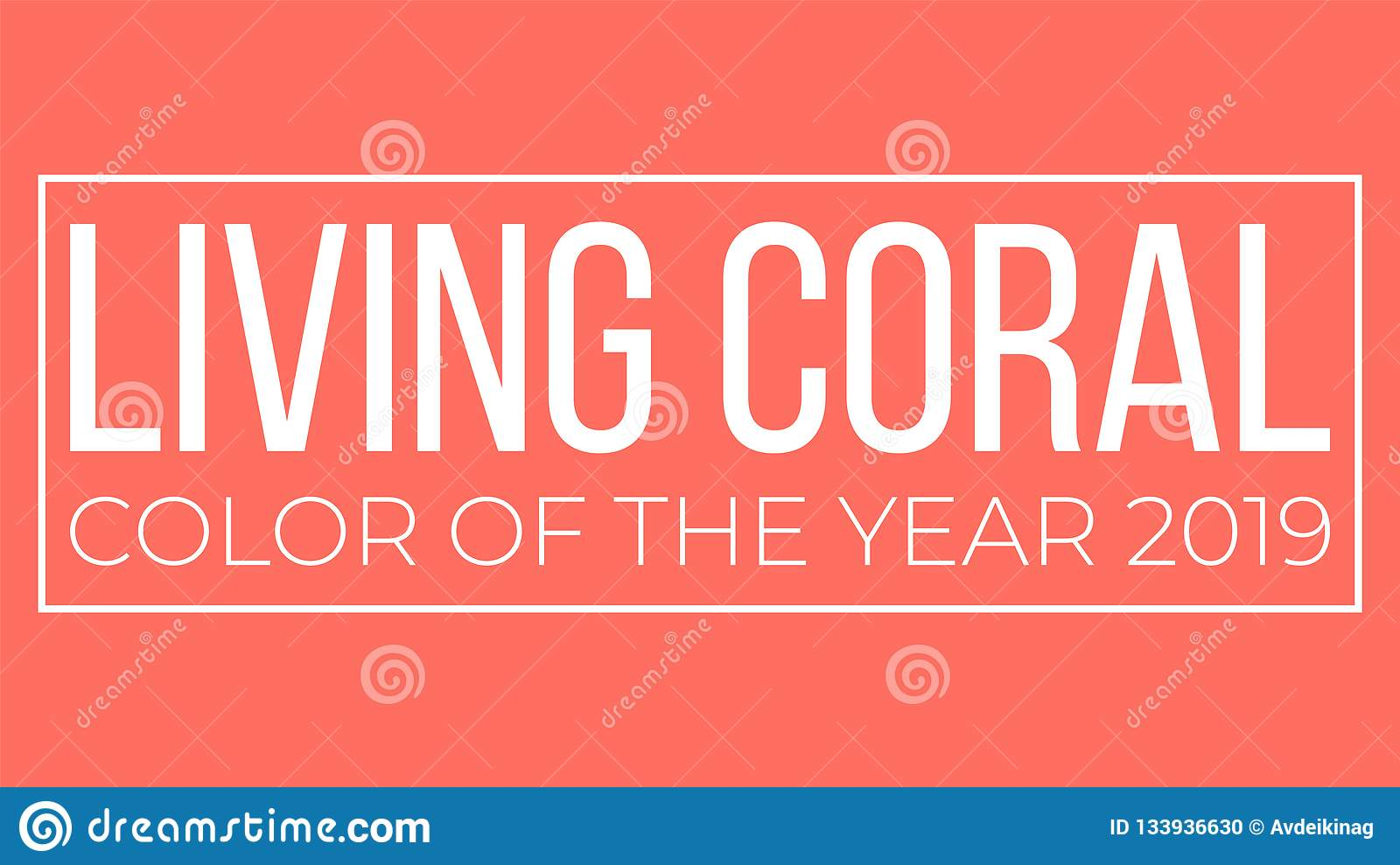 Living Coral Color Of The Year Vector Presentation Stock Vector