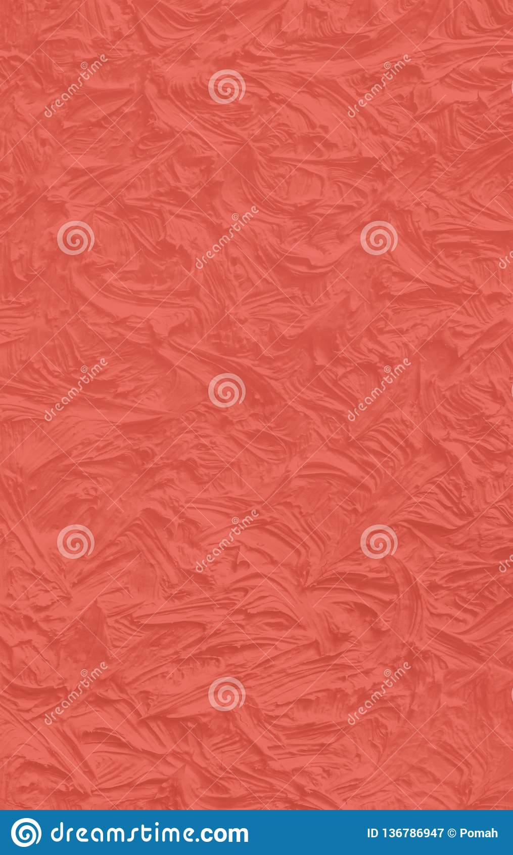 Living coral concrete texture. Trendy color of the Year 2019