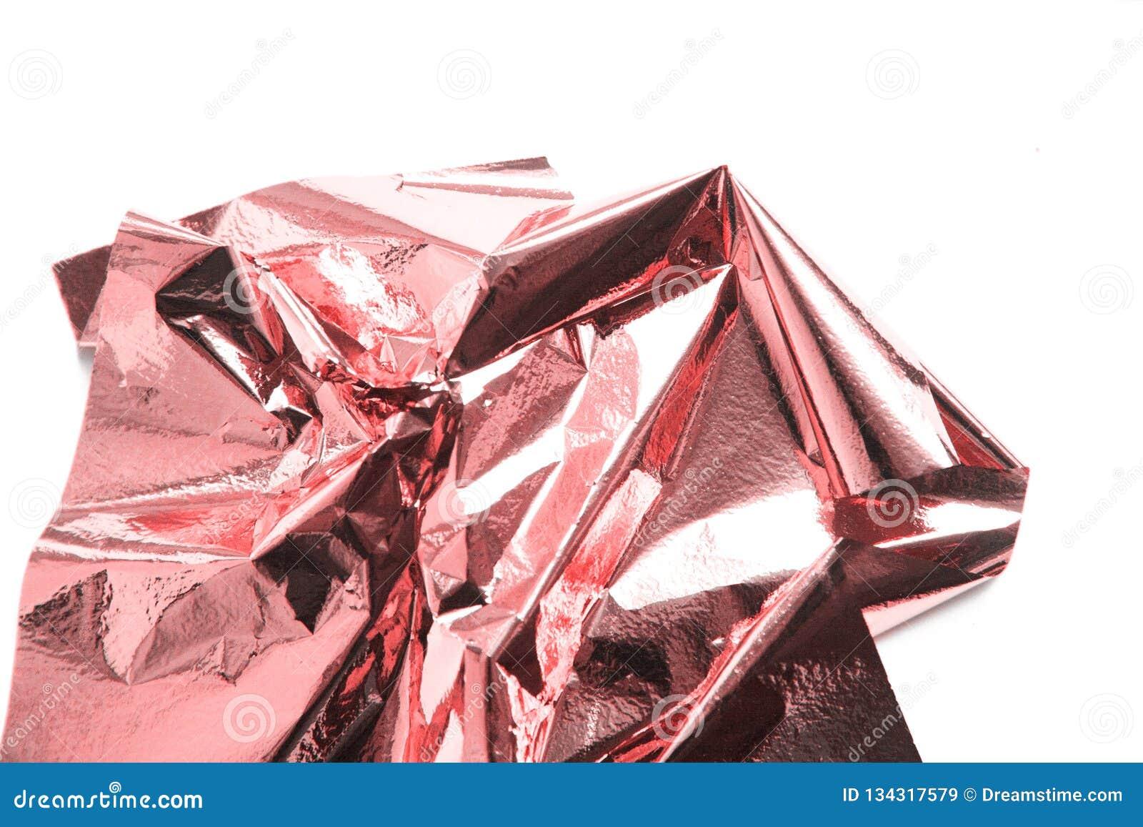 Living coral, metal shiny pink gold foil sheet