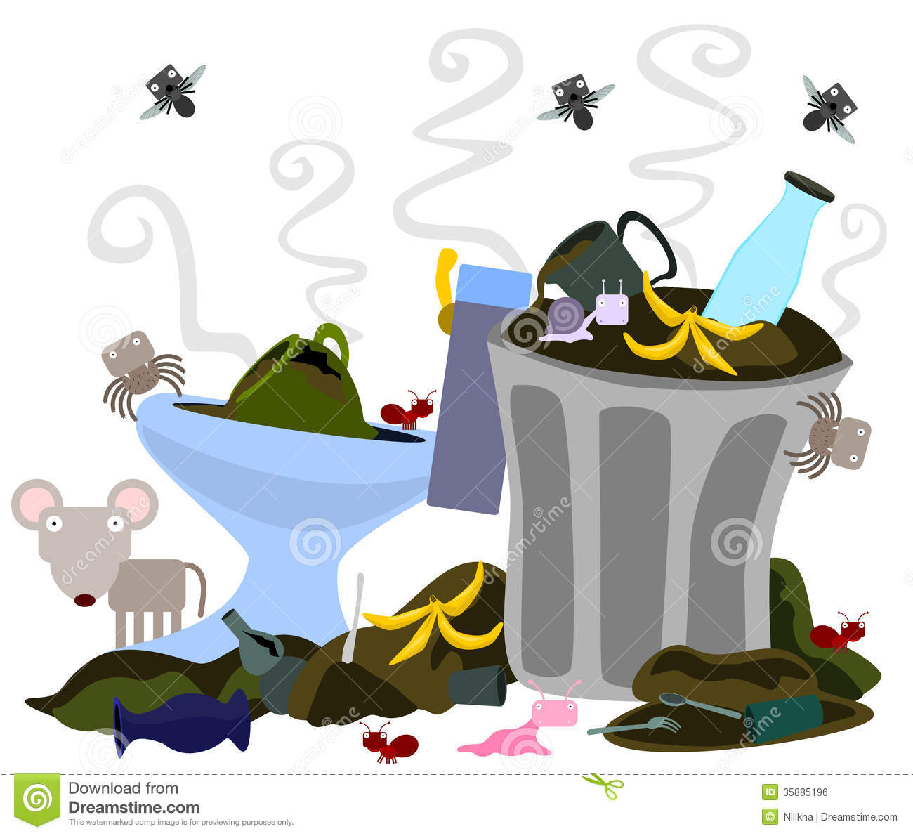 Living In A Dump Royalty Free Stock Image Image 35885196